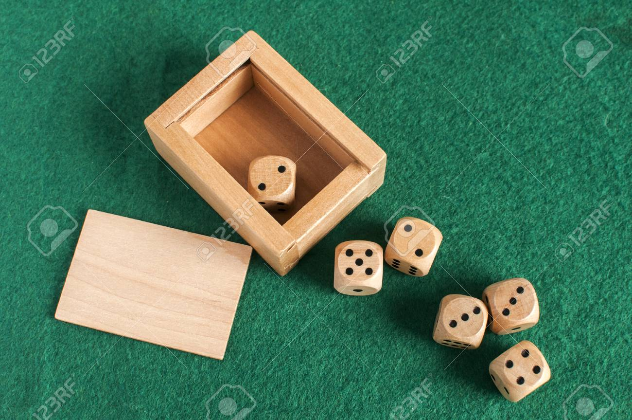 Wooden Round Corner Dice Six Sided Dots Set For Playing With Stock - Six sided table