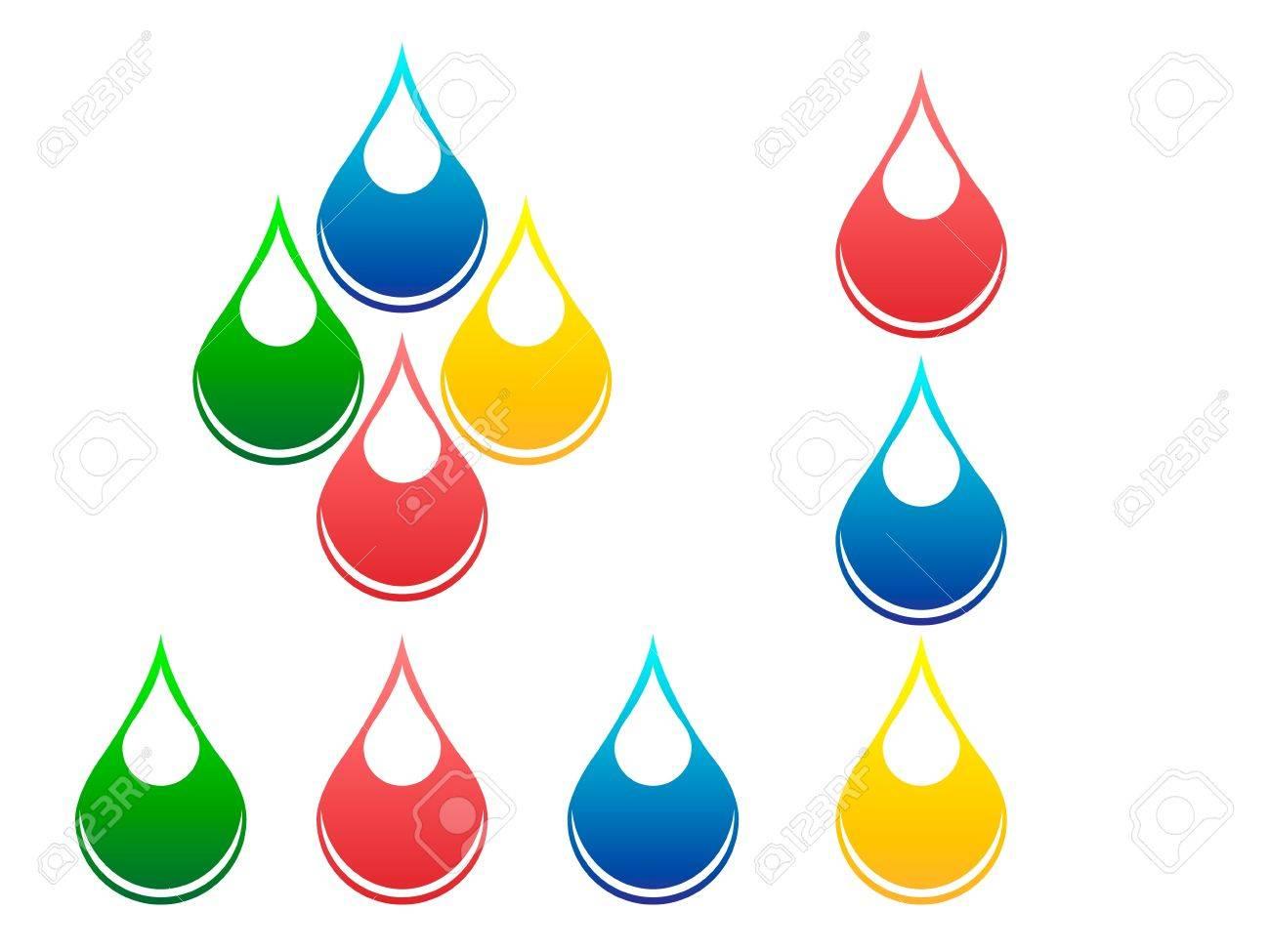 Drops of fluids Stock Vector - 15350201