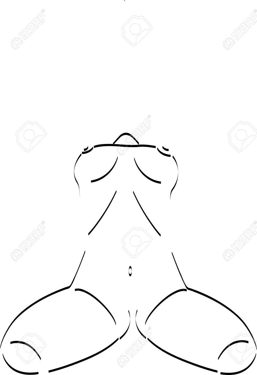 Sketch of woman torso Stock Vector - 15634668