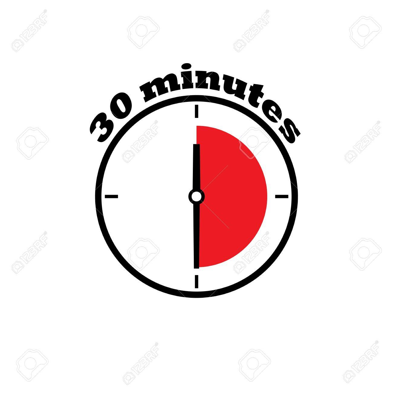 30 minutes clock dial simple flat with red zone royalty free 30 minutes clock dial simple flat with red zone stock vector 83853821 publicscrutiny Image collections