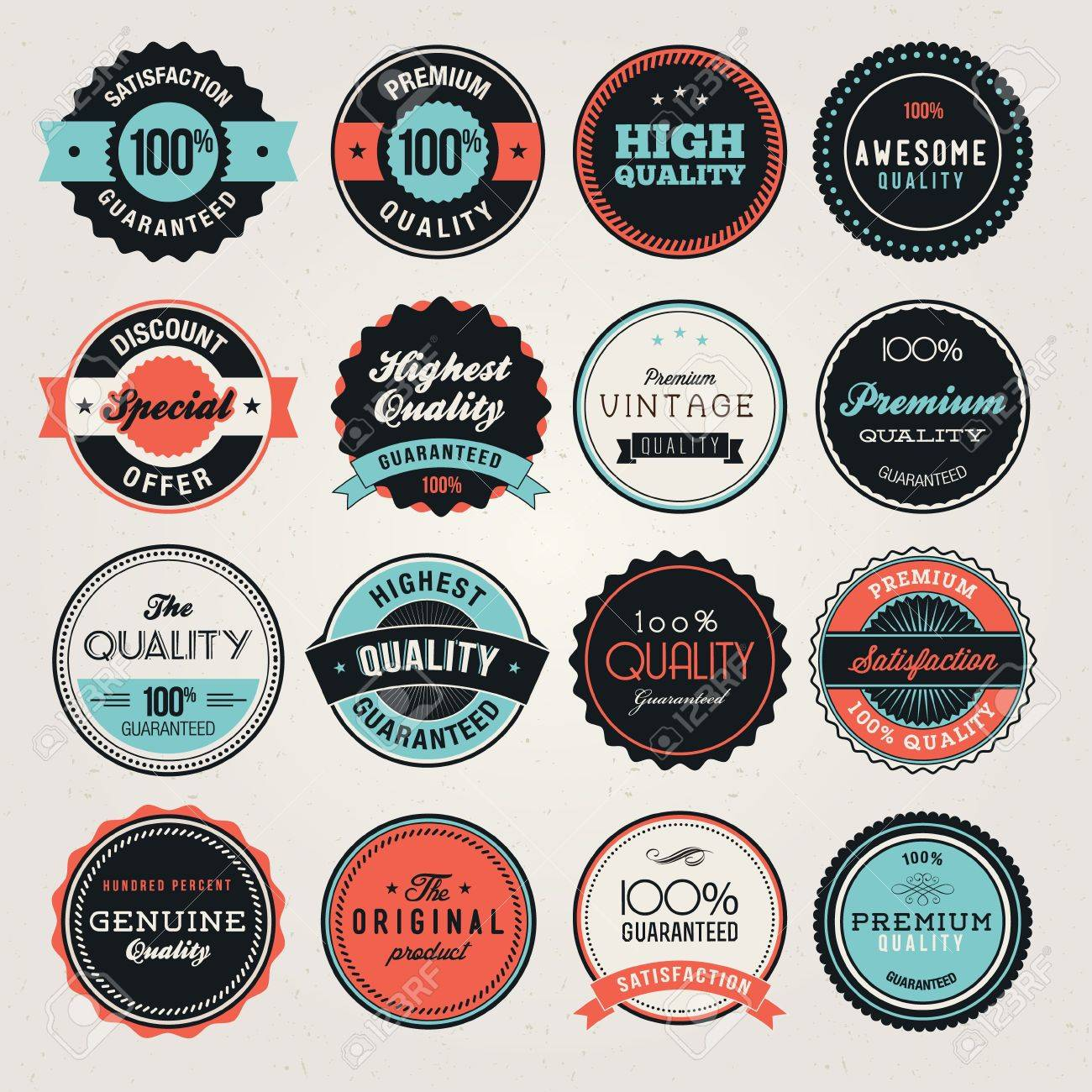 Set of business labels and and badges - 13673321