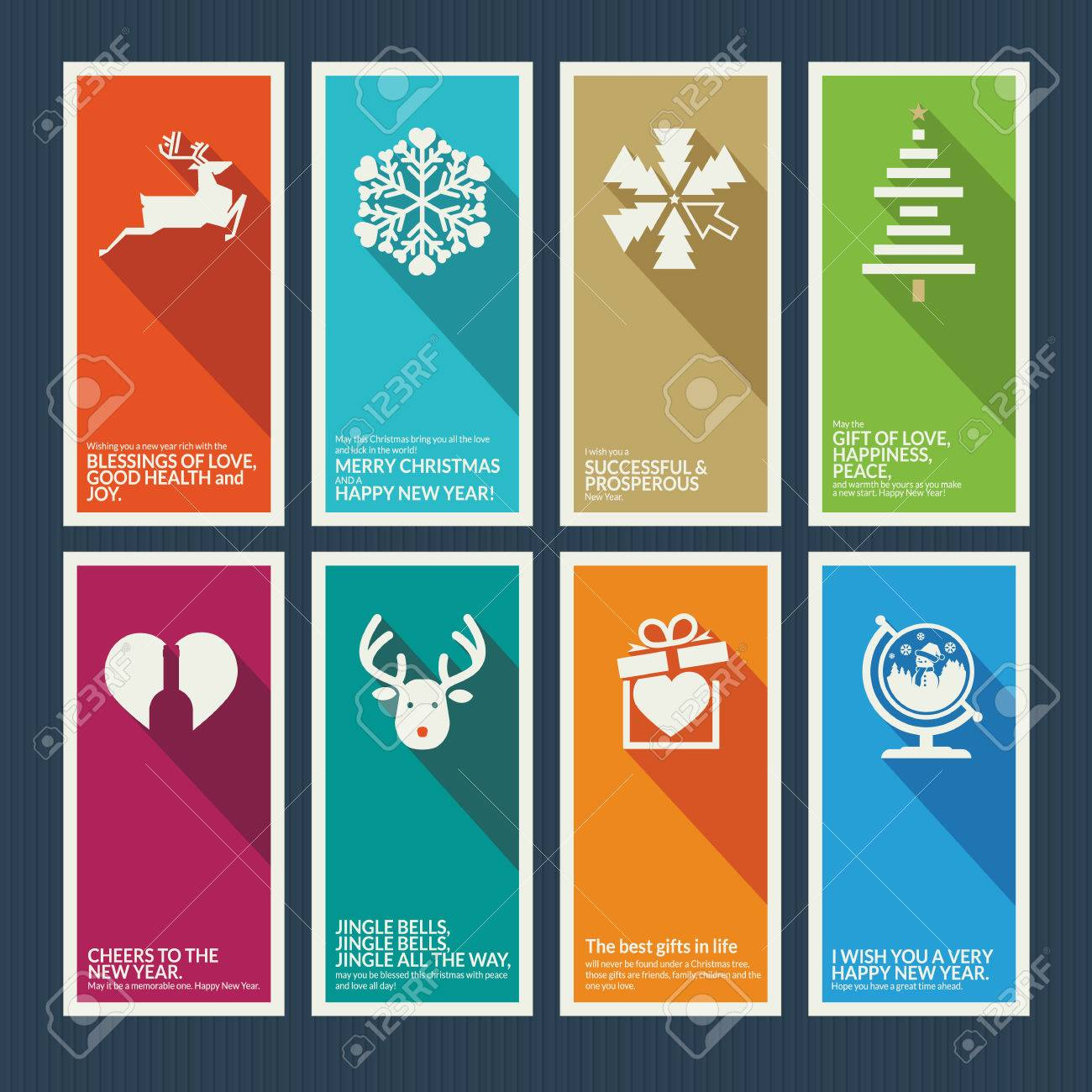 set of christmas and new year greeting cards stock vector 23292461