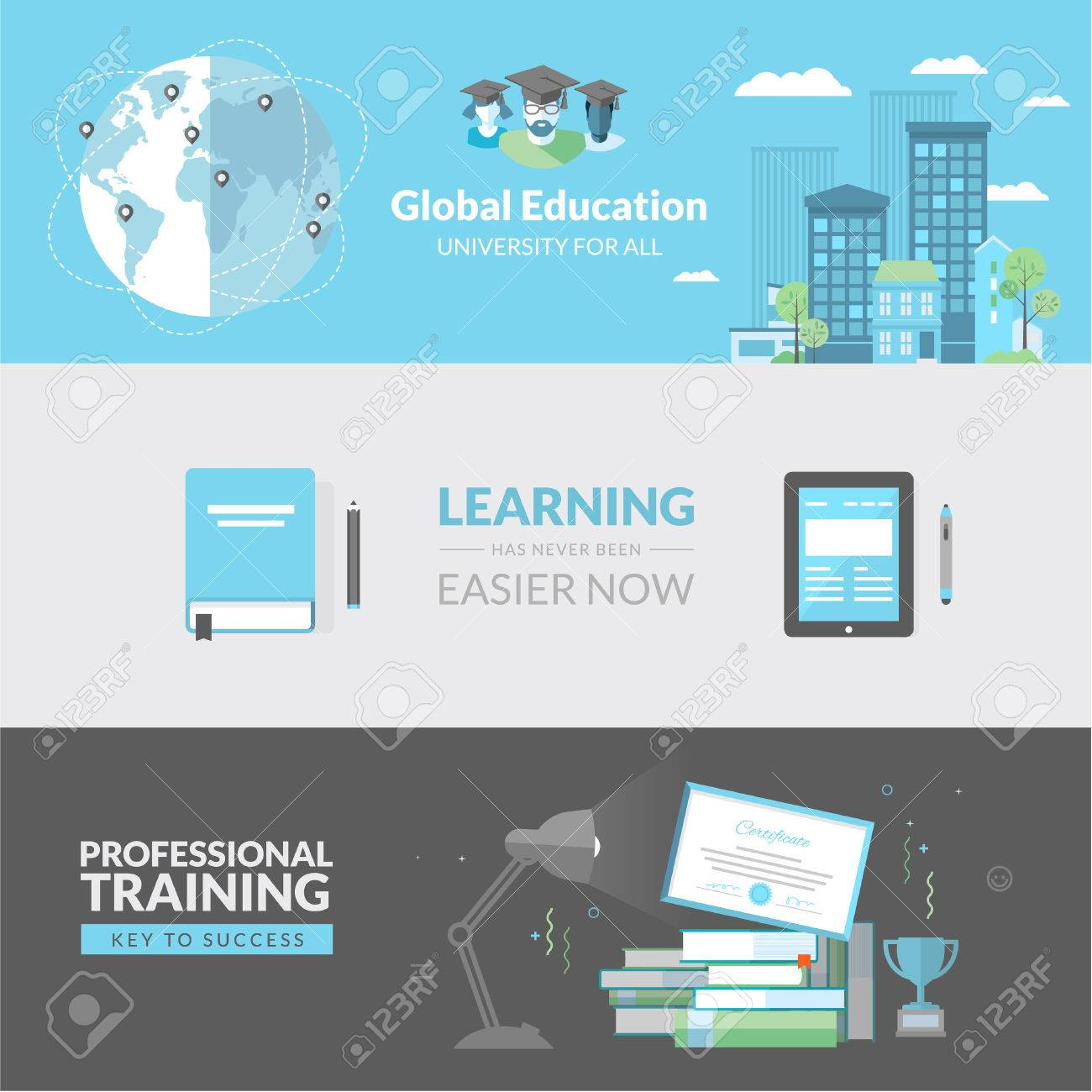 Flat Design Concept For Education Concepts For Web Banners And Royalty Free Cliparts Vectors And Stock Illustration Image 27903644