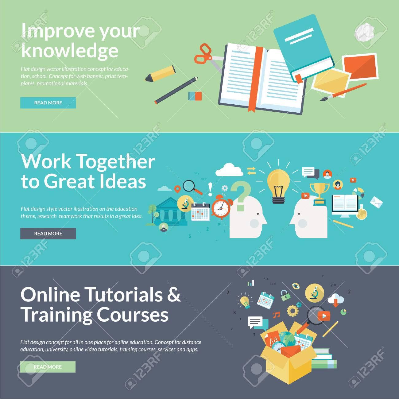 Flat design illustration concepts for education - 32571396