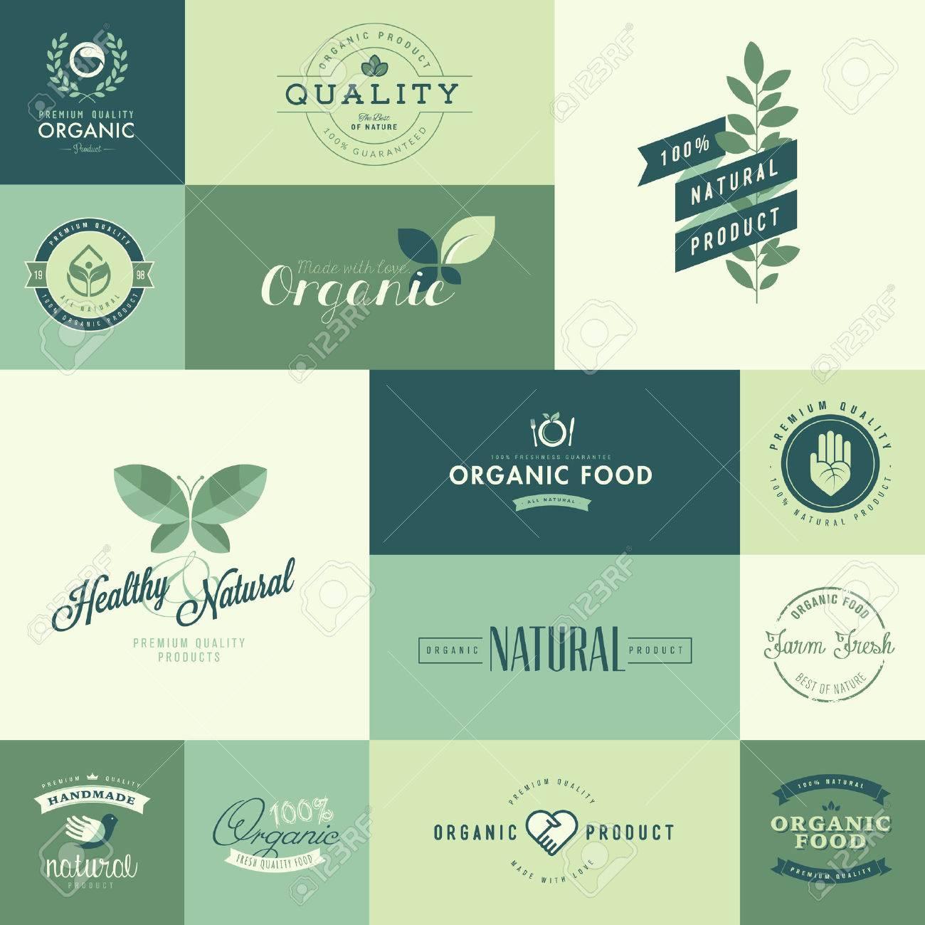 Design Ikonen set flache design ikonen für natürliche bio produkte lizenzfrei