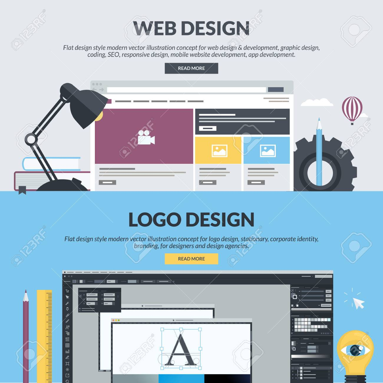 Set Of Flat Design Style Concepts For Web Design And Development Royalty Free Cliparts Vectors And Stock Illustration Image 39209220