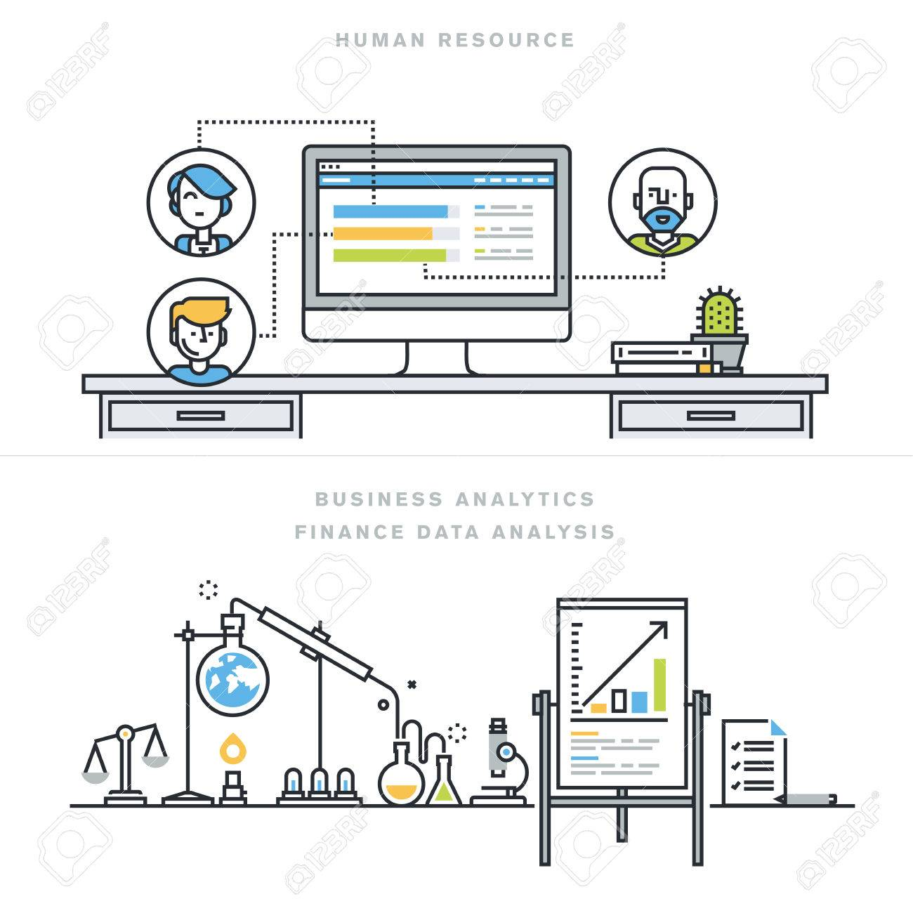 flat line design vector illustration concepts for human resources flat line design vector illustration concepts for human resources people management professional skills