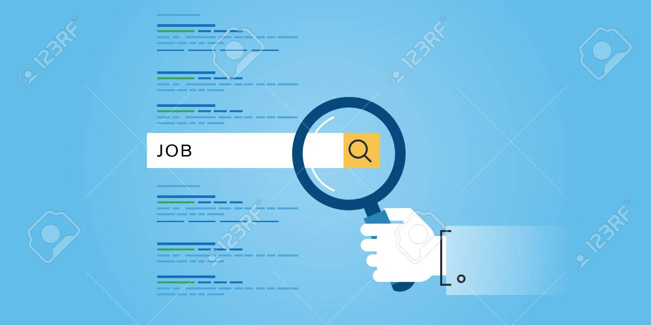 flat line design website banner of job searches career flat line design website banner of job searches career employment opportunities human resources