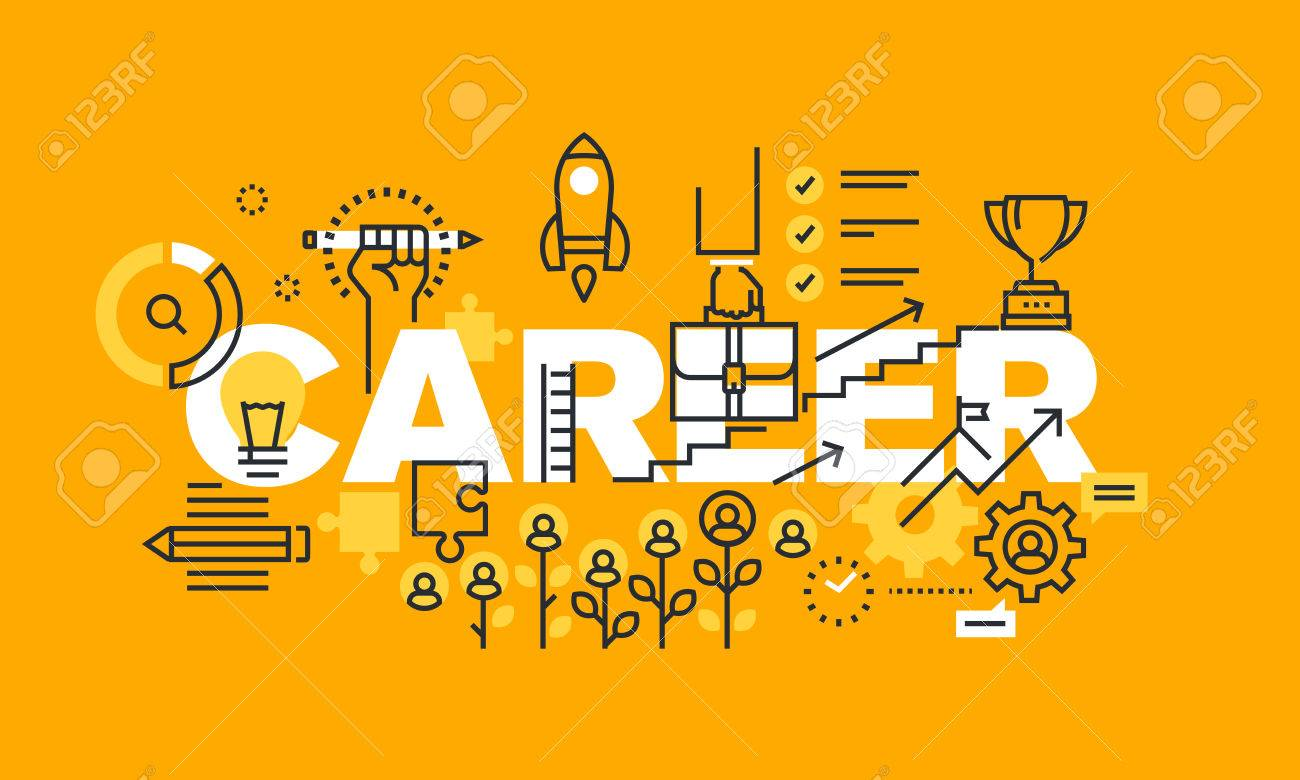 Thin Line Flat Design Banner For Career Web Page Employment Royalty Free Cliparts Vectors And Stock Illustration Image 56755936