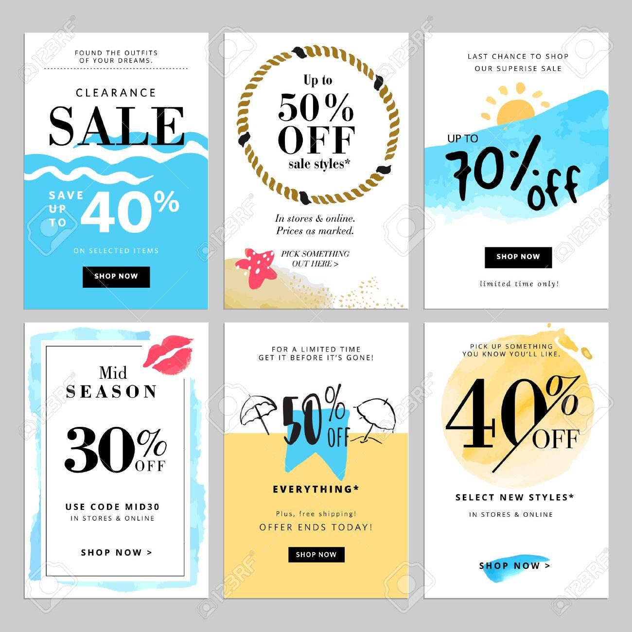 Set of season sale banner templates Stock Vector - 60002331