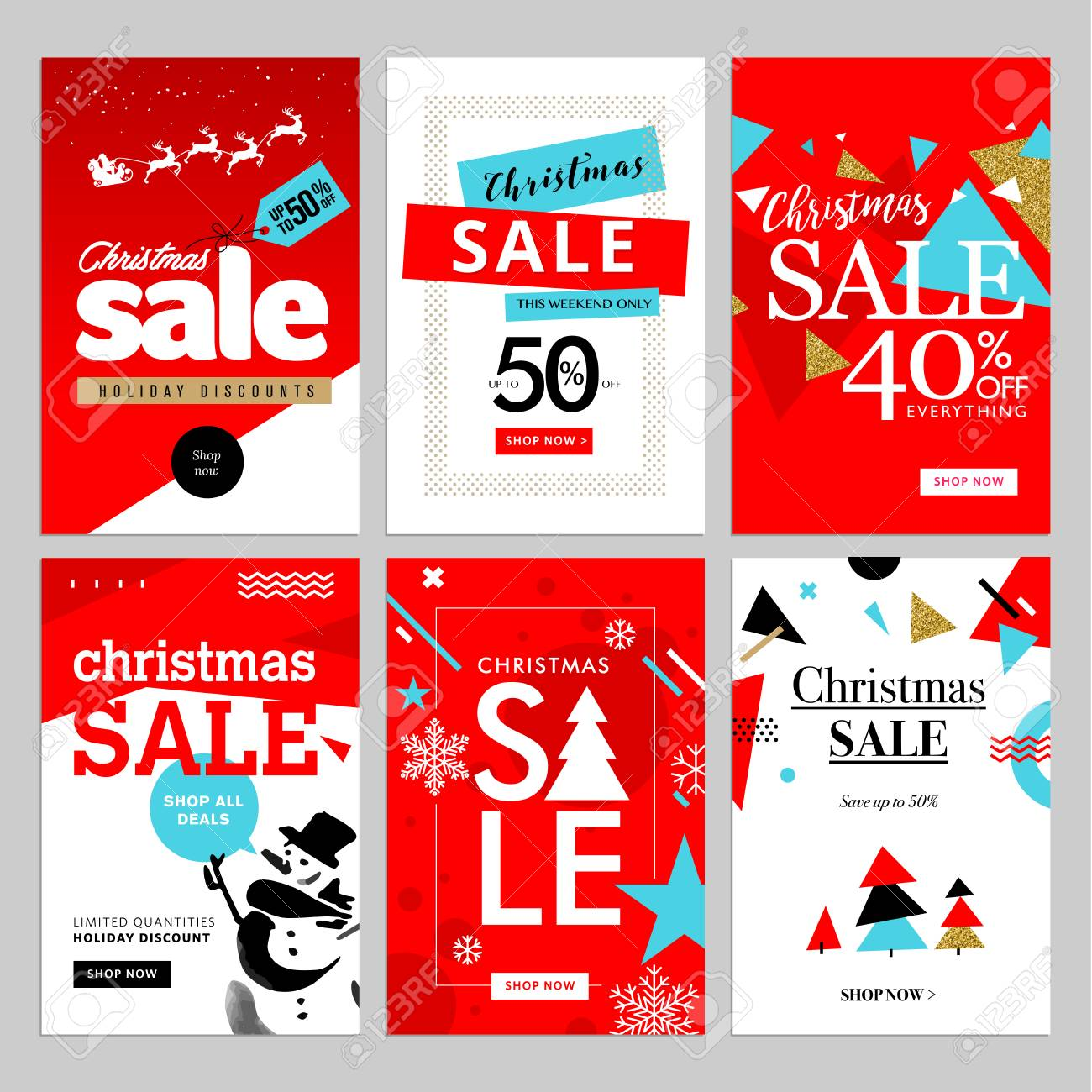 Set Of Christmas And New Year Mobile Sale Banners Vector Illustrations Royalty Free Cliparts Vectors And Stock Illustration Image 66002998