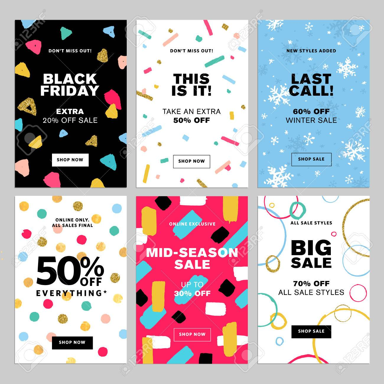 Winter Sale Banners 4th July Sale Banners