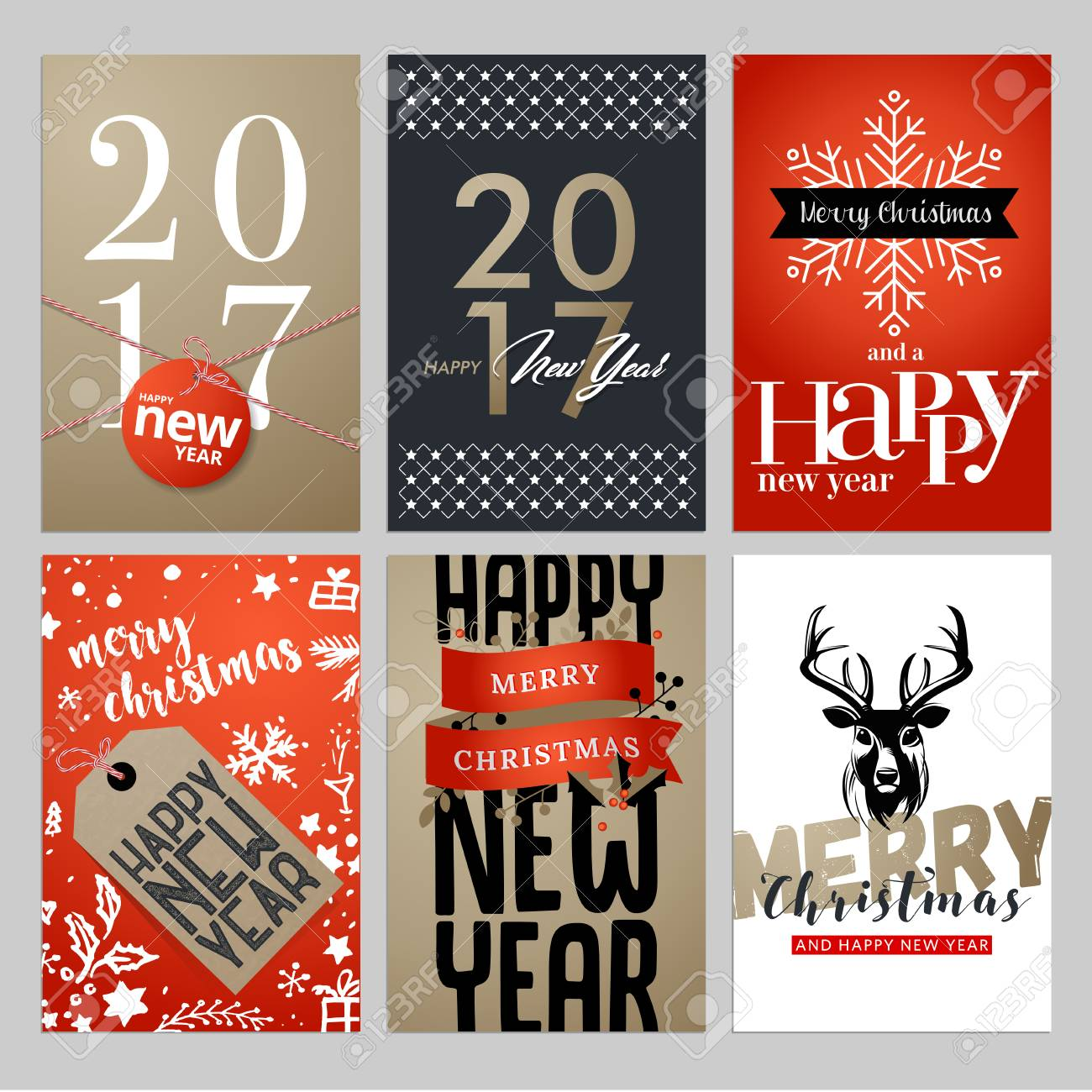 Christmas and new year flat design greeting cards set hand drawn christmas and new year flat design greeting cards set hand drawn vector illustrations for greeting m4hsunfo