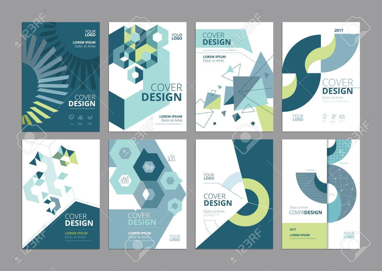 set of modern business paper design templates vector illustrations