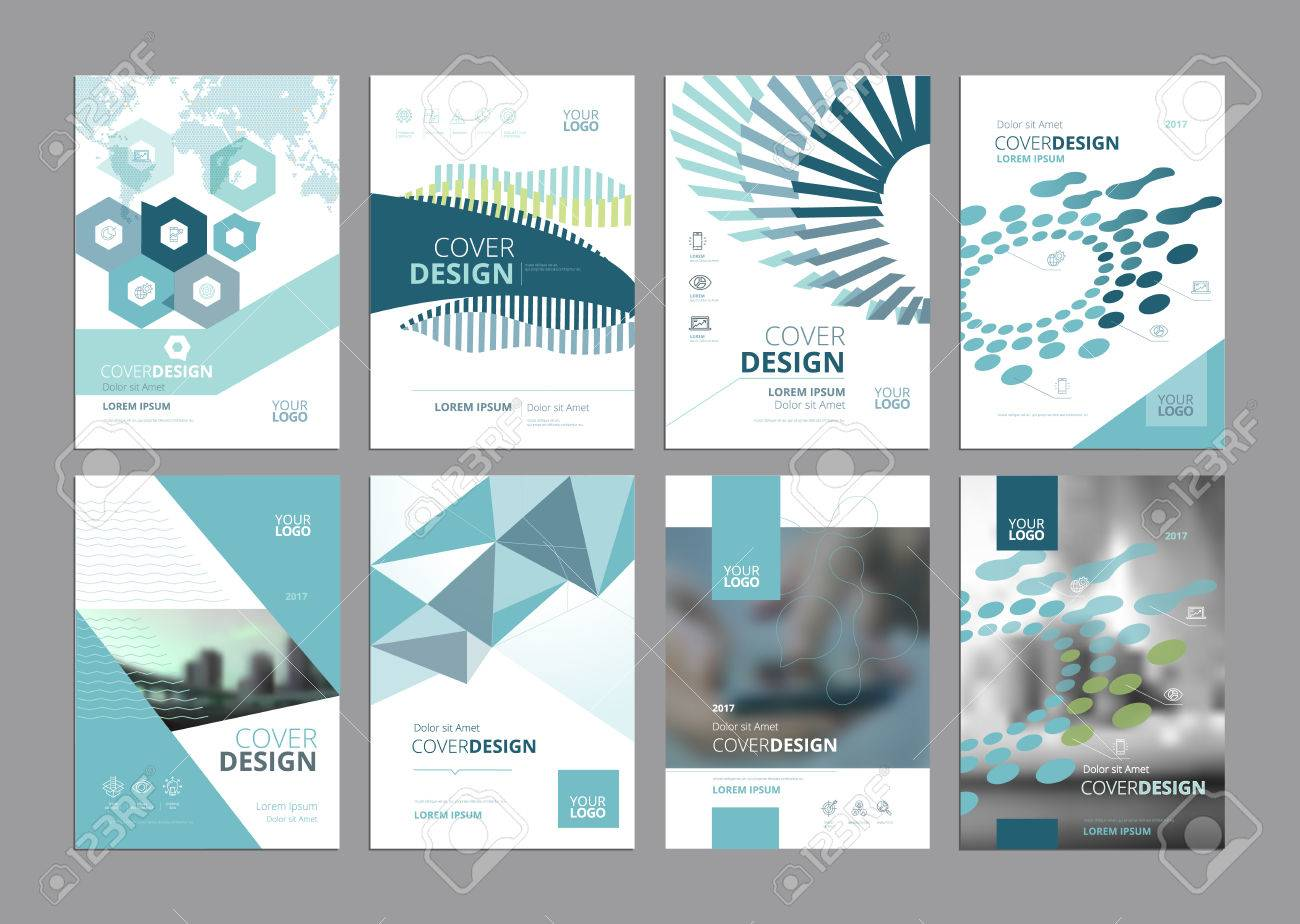 Set Of Modern Business Paper Design Templates. Vector Illustrations ...