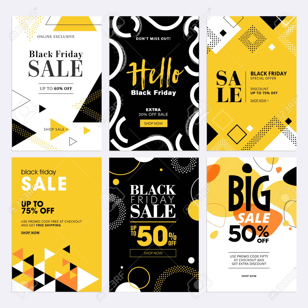 Black Friday sale banners. - 88427710