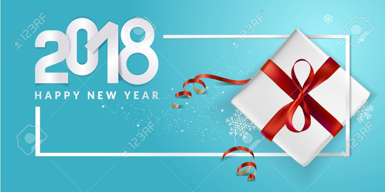 Elegant New Years greeting card. Vector illustration concept for greeting cards, web banner, flayer brochure, party invitation card. - 89461410