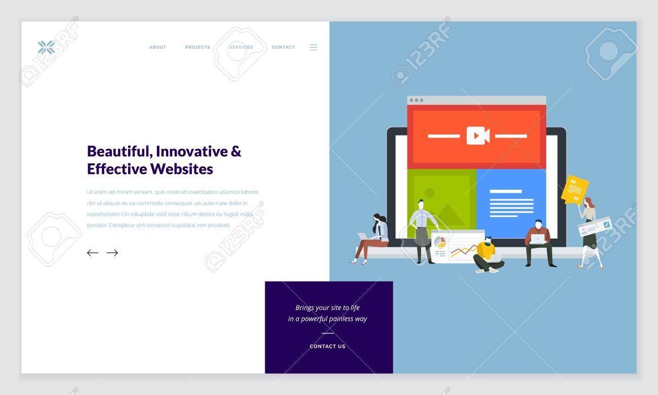 creative website template design. vector illustration concept