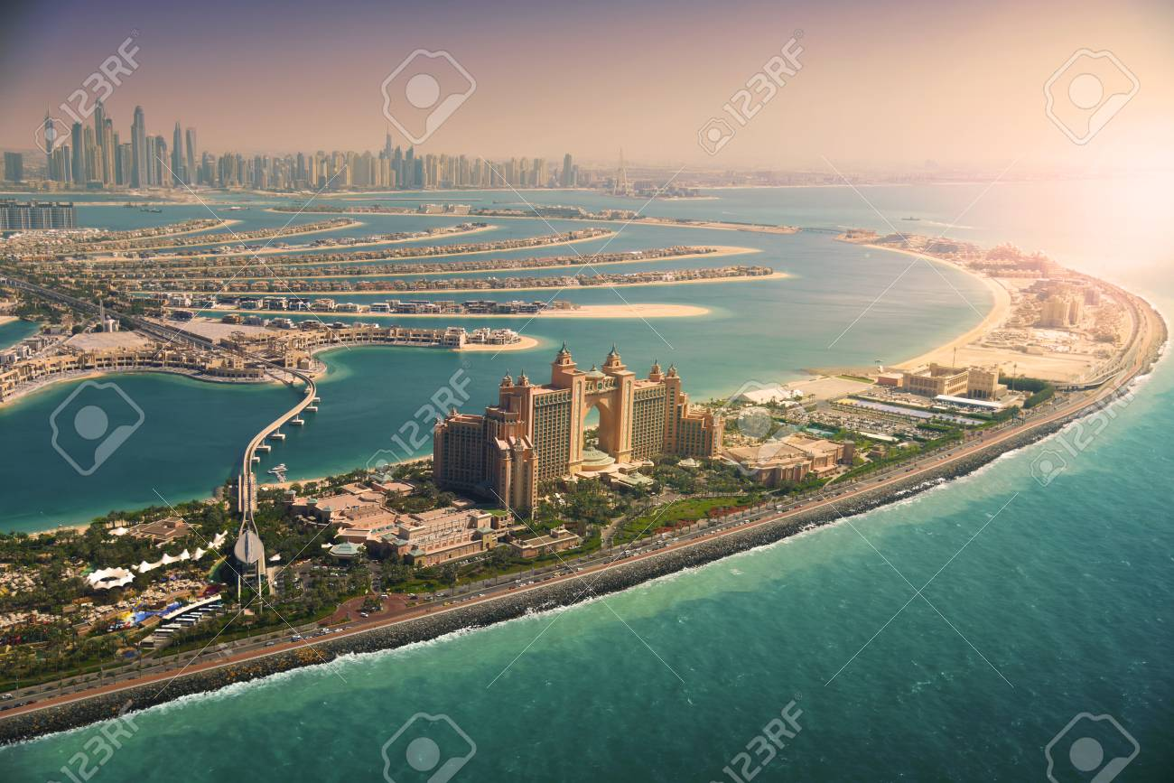 Palm Island at sunset, Dubai - 101145776