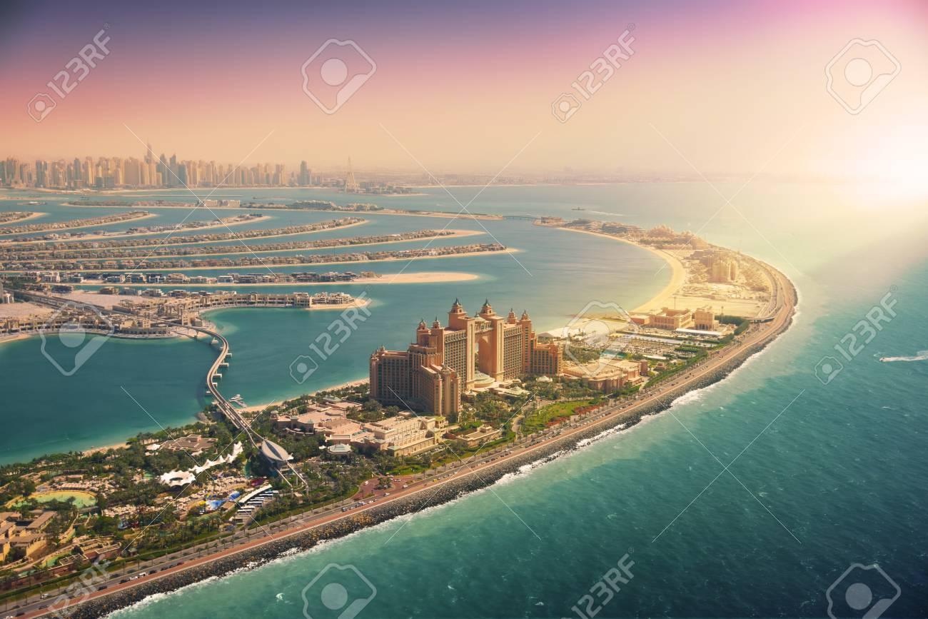 Palm Island in Dubai, aerial view - 101212768