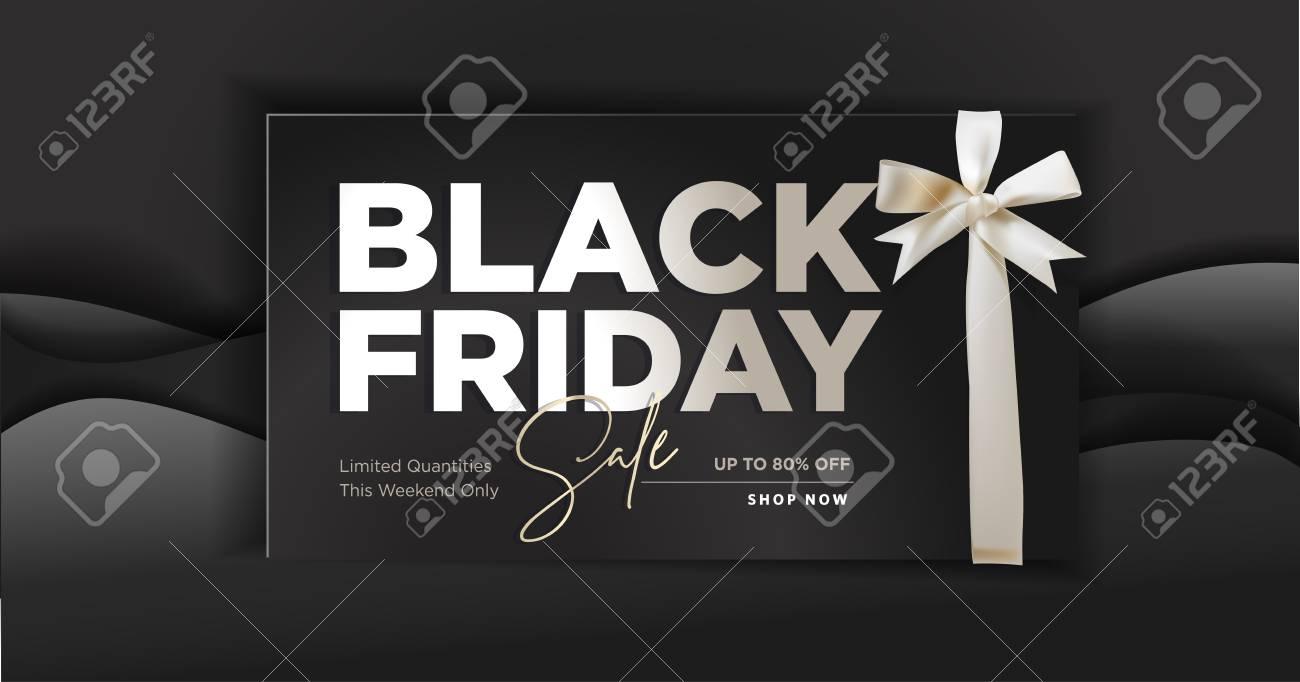 Black Friday sale banner. - 110956982