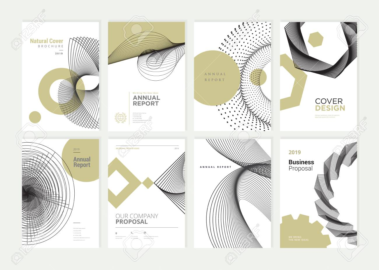 Set of brochure, annual report, flyer design templates in A4 size. - 118852800