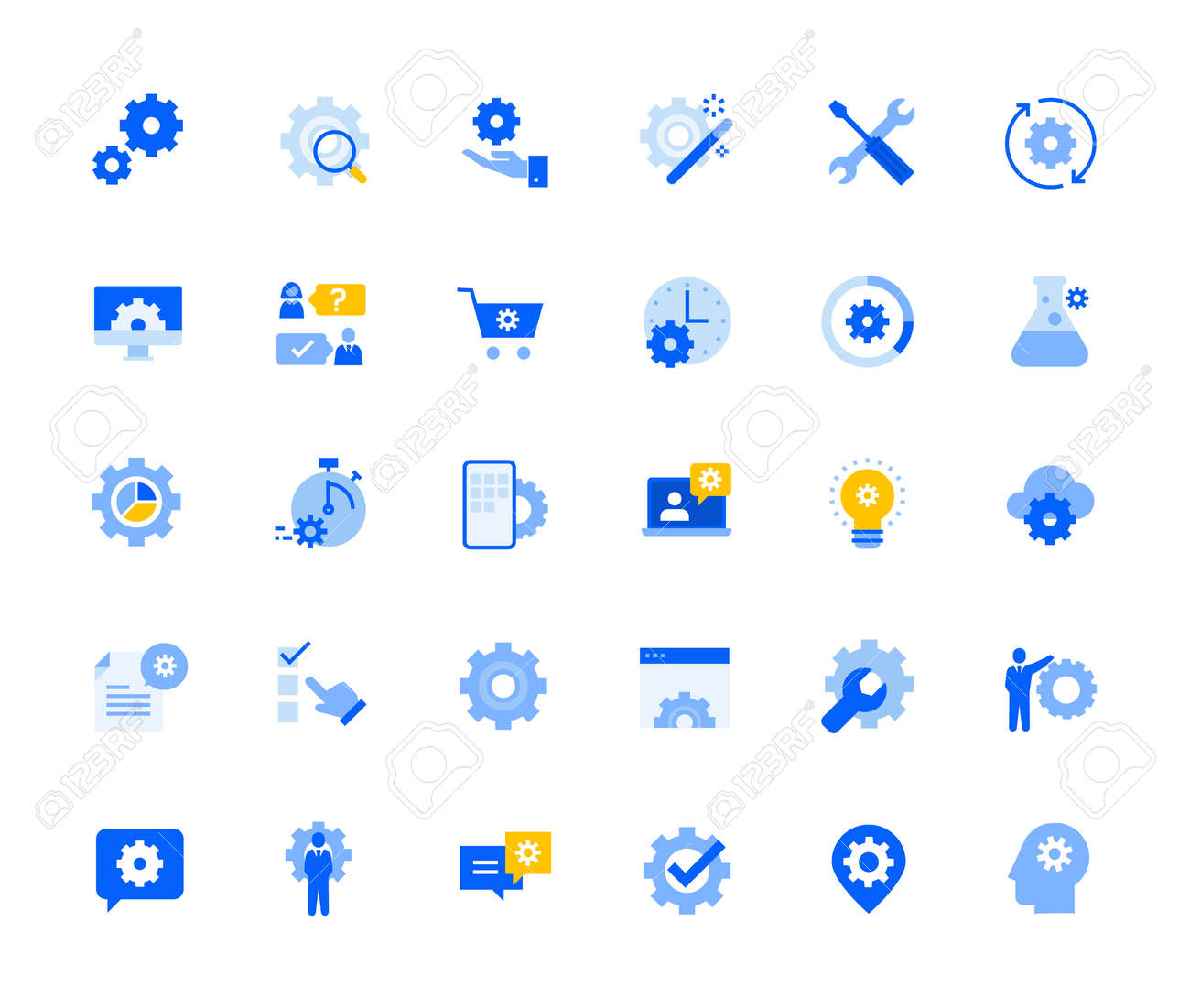 Settings and preferences icons set for personal and business use. - 168285550