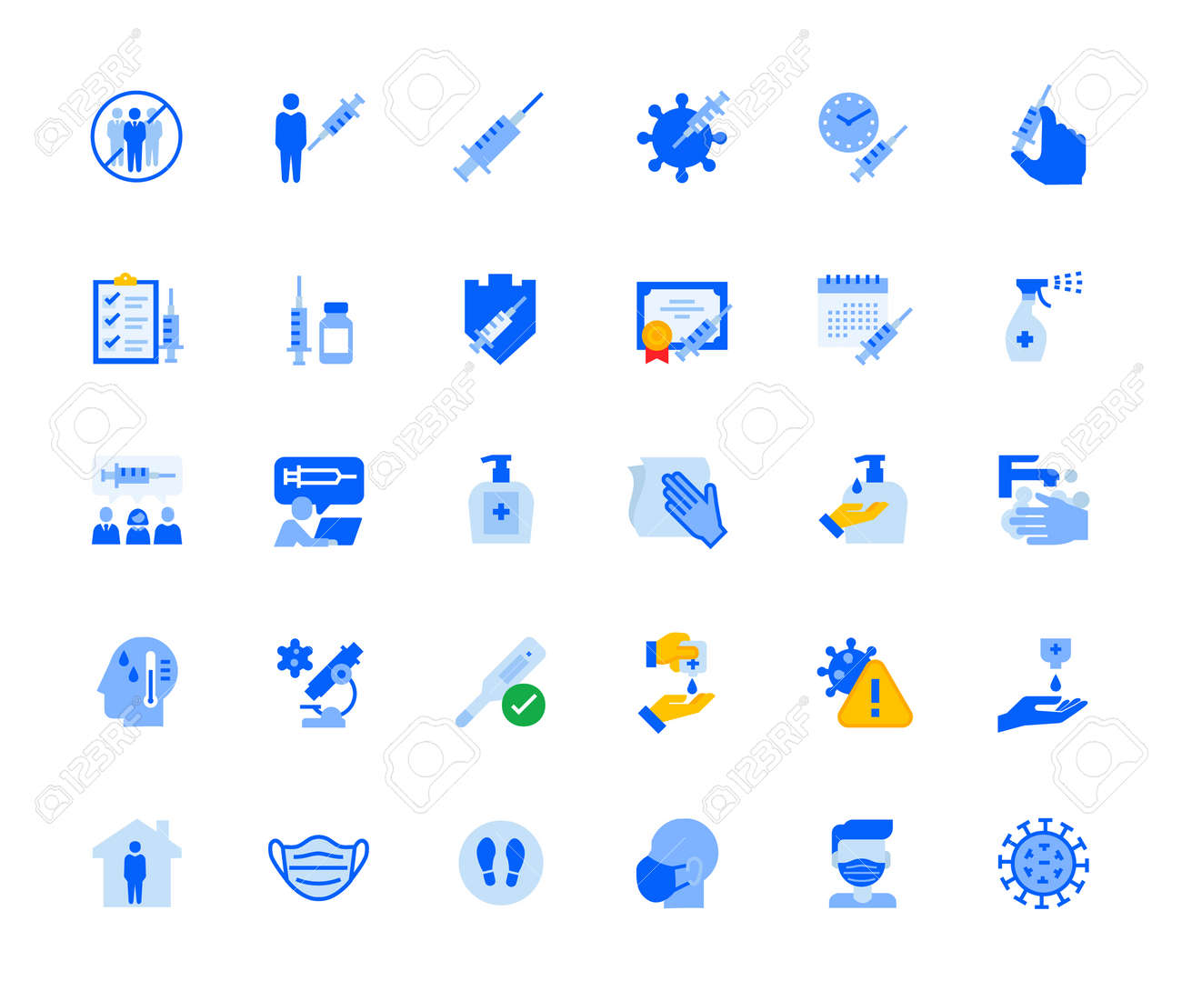 Disease prevention and healthcare icons set for personal and business use. - 168285546