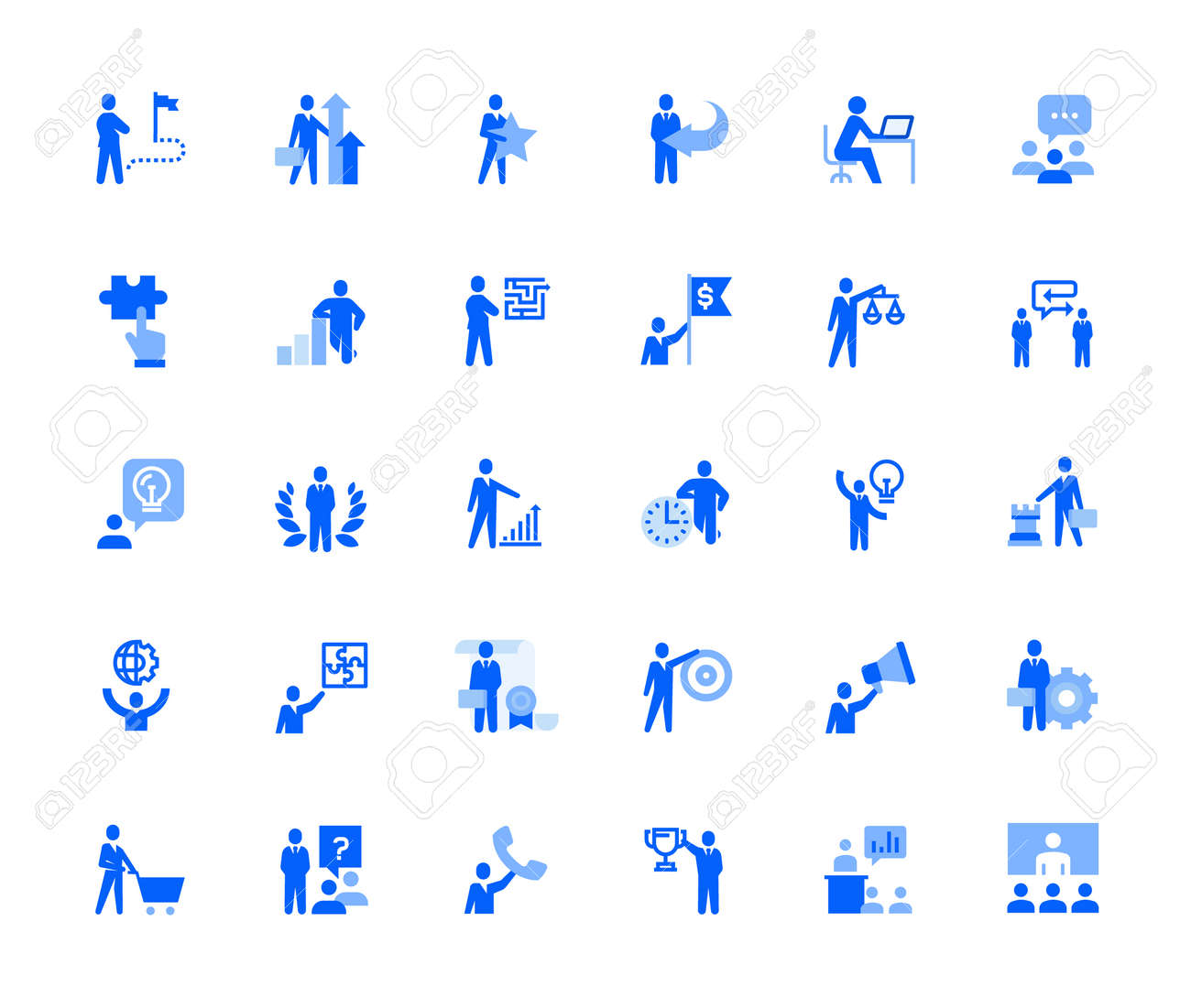 People business and marketing icons set for personal and business use. - 168285552