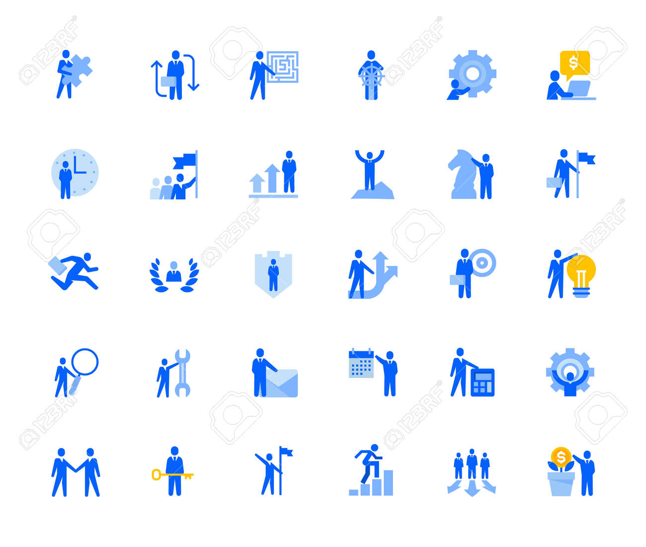 Business management icons set for personal and business use. - 168285556