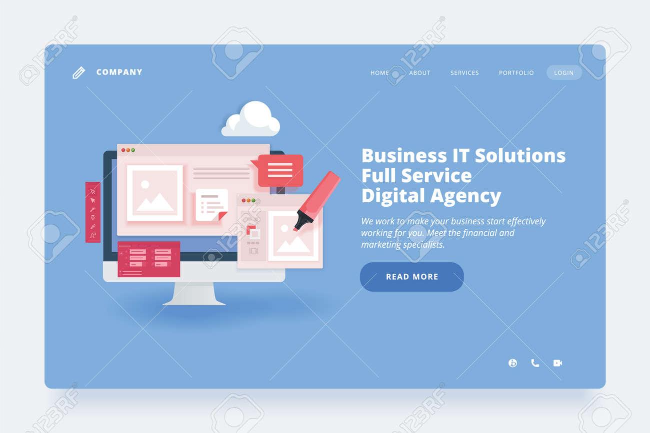 Web design template. - 168684093