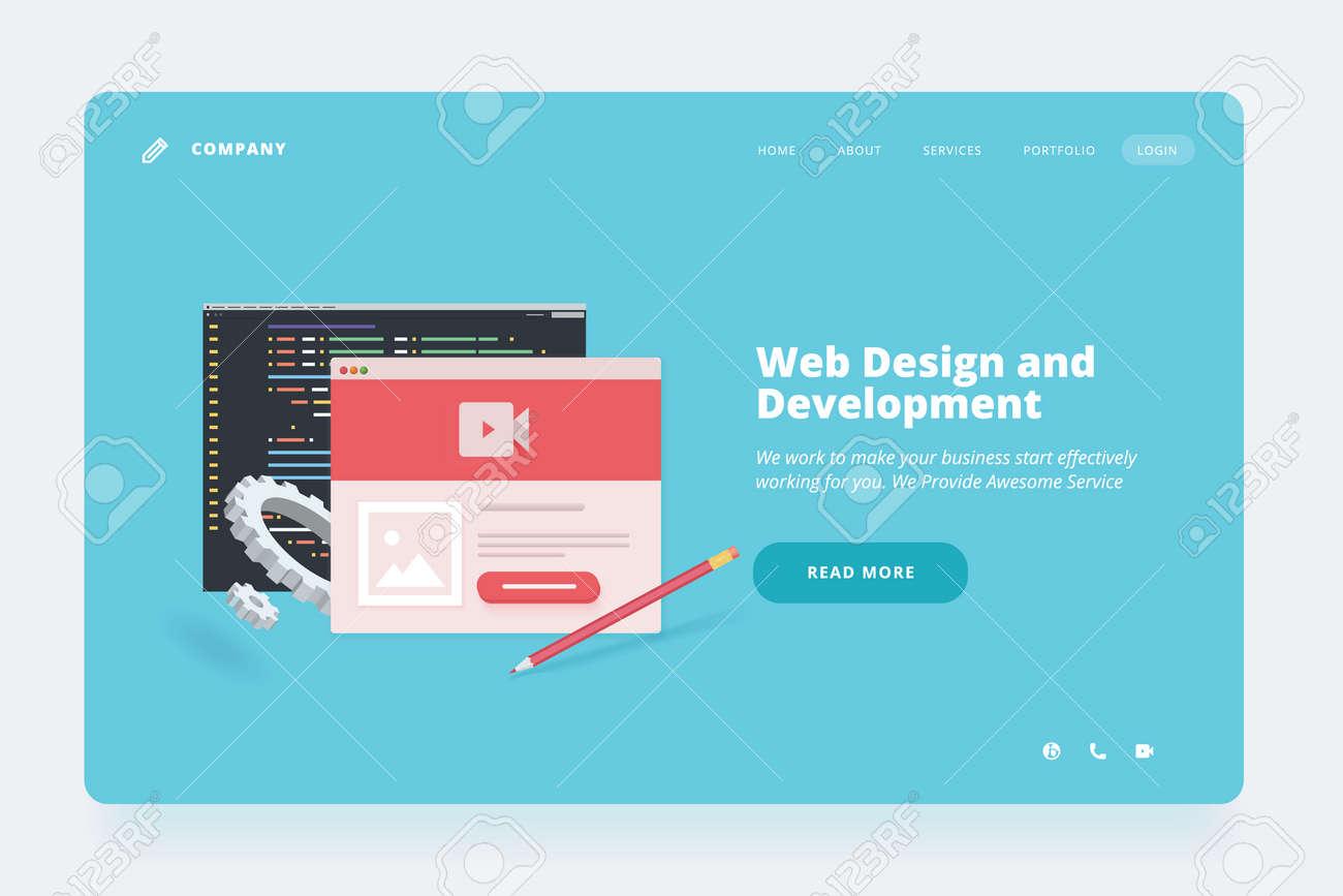 Web design template. - 168684098