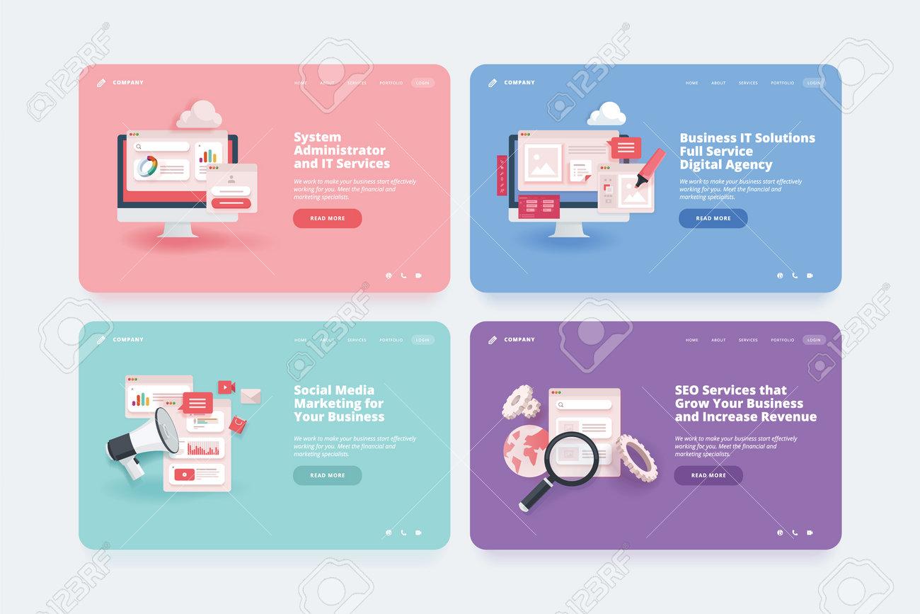 Web design template. - 168684094