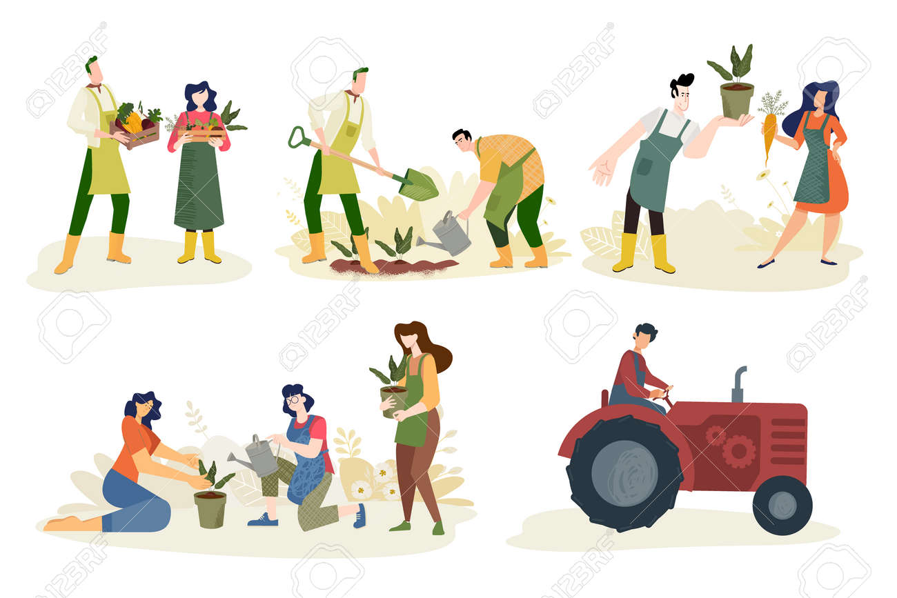 Organic farming, agriculture and gardening. - 170345396
