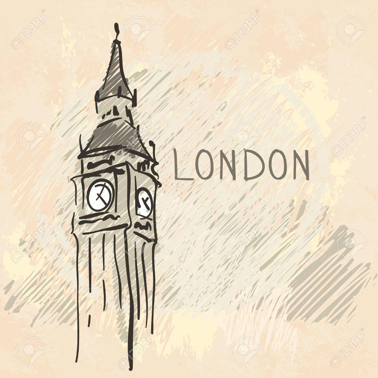 World famous landmark series: Big Ben, London, England Stock Vector - 20394027