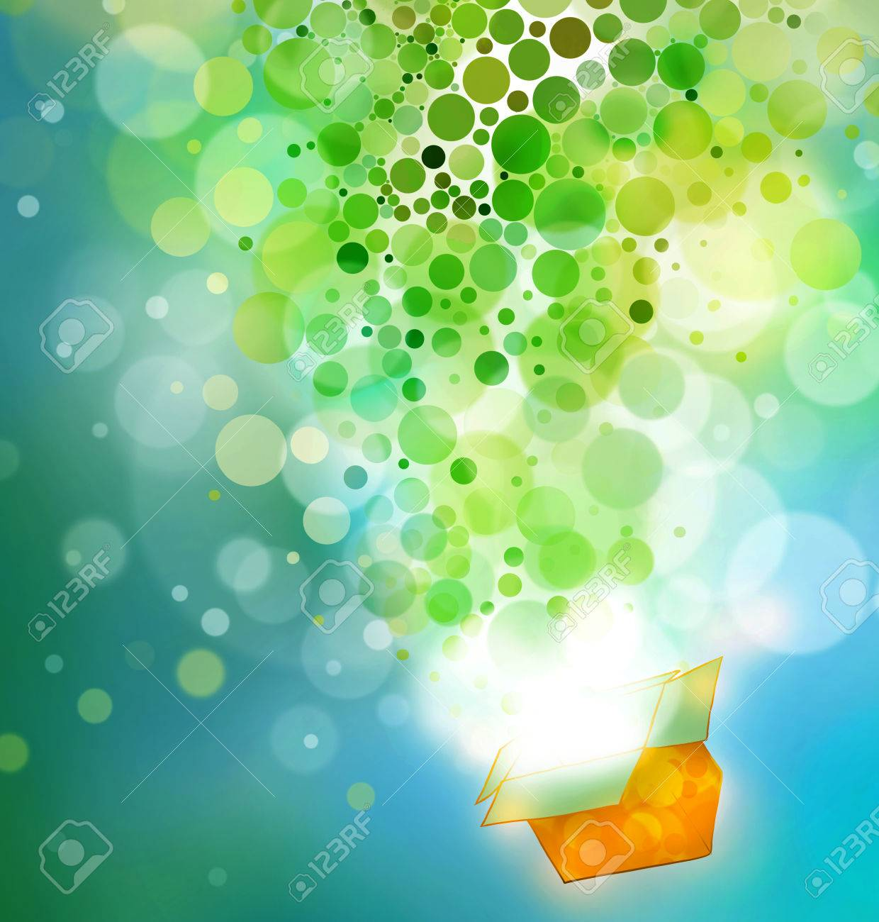 Exploding Gift Box: Abstract Illustration With Circles, Color ...