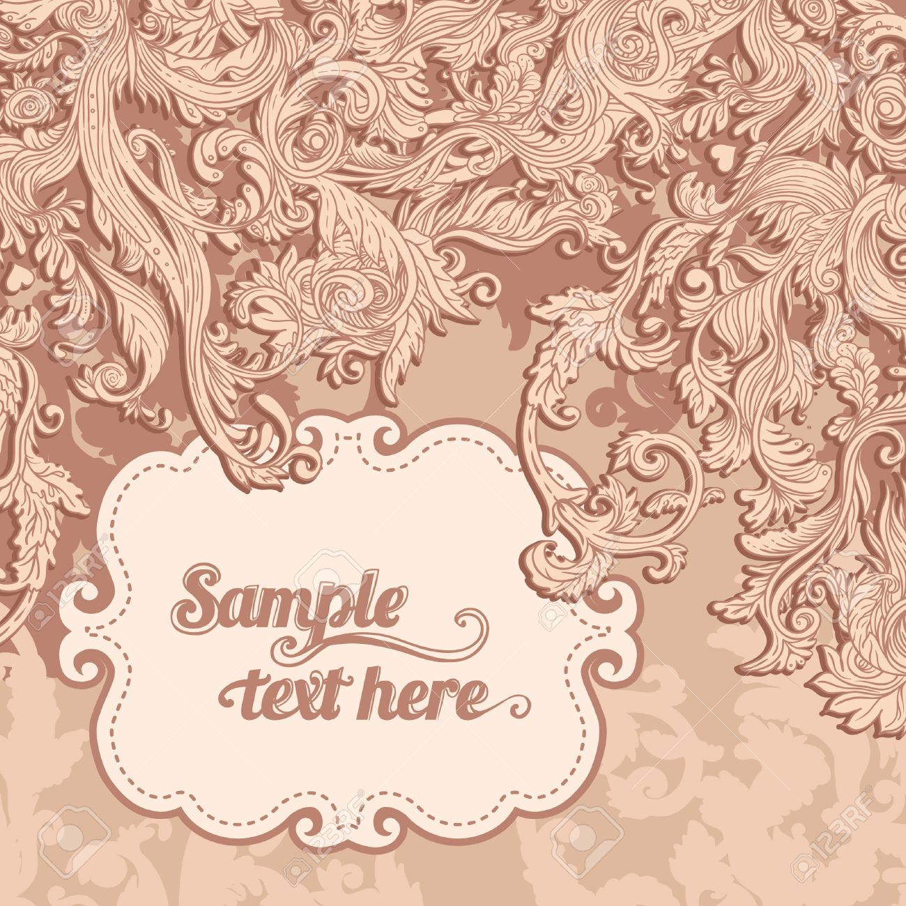 Vintage background ornate baroque pattern vector illustration stock - Vintage Background Ornate Baroque Pattern Vector Illustration Stock Vector 24616567