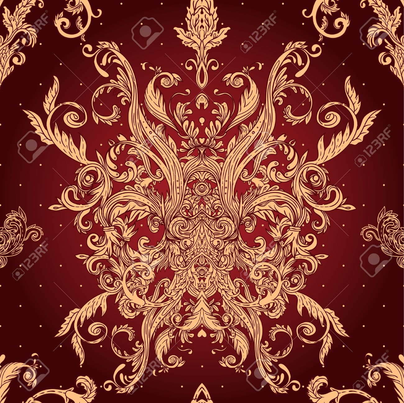 Vintage background ornate baroque pattern vector illustration stock - Vintage Vector Background Ornate Baroque Pattern Stock Vector 24615968