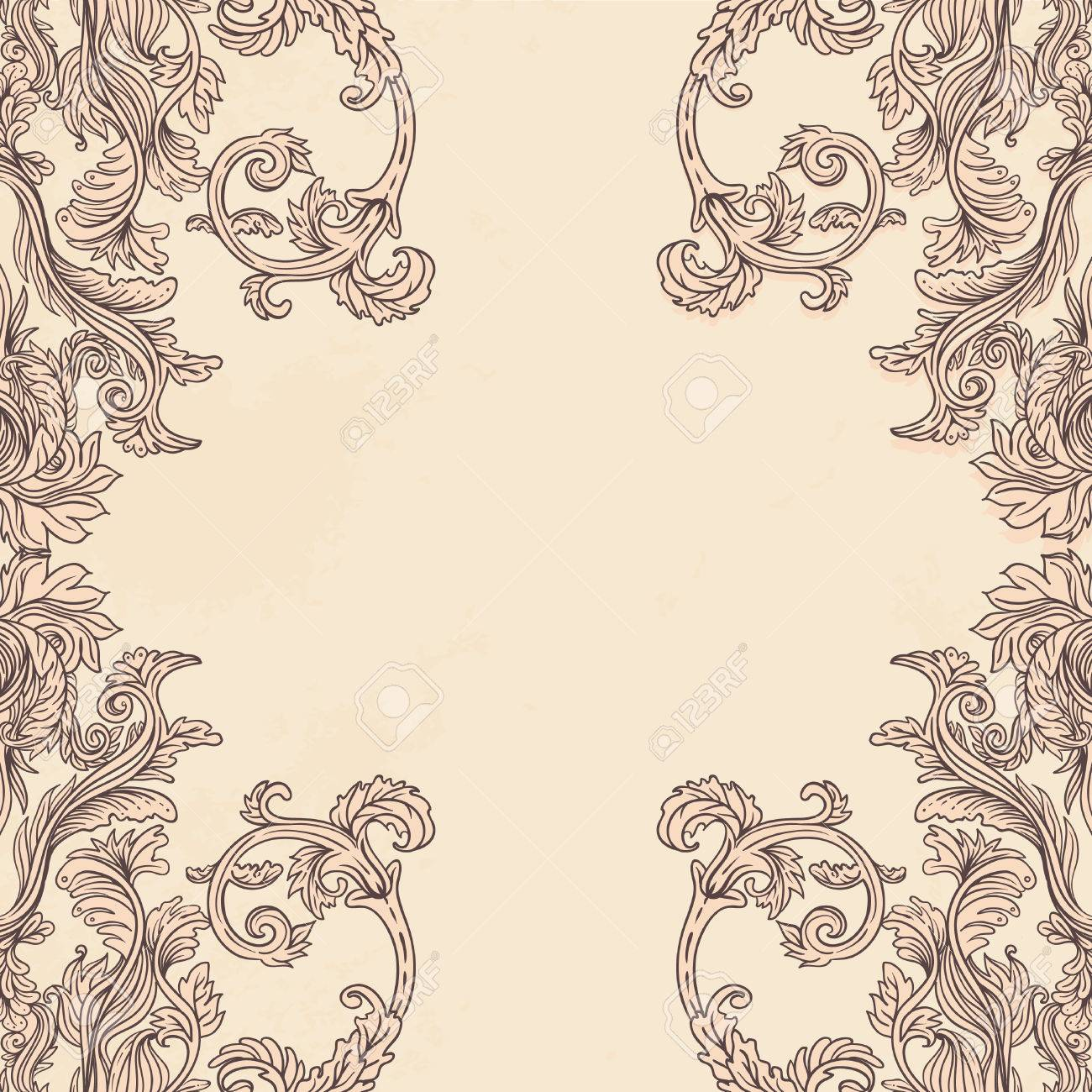 Vintage background ornate baroque pattern vector illustration stock - Vintage Background Ornate Baroque Pattern Vector Illustration Stock Vector 24615878