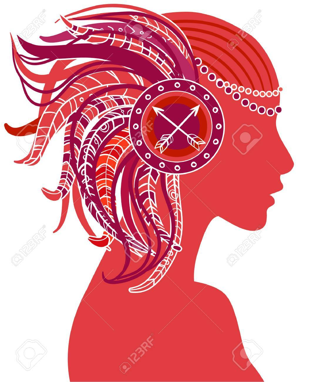 Sagittarius astrological sign as a beautiful girl. Vector illustration. . Isolated on white. Standard-Bild - 24677322