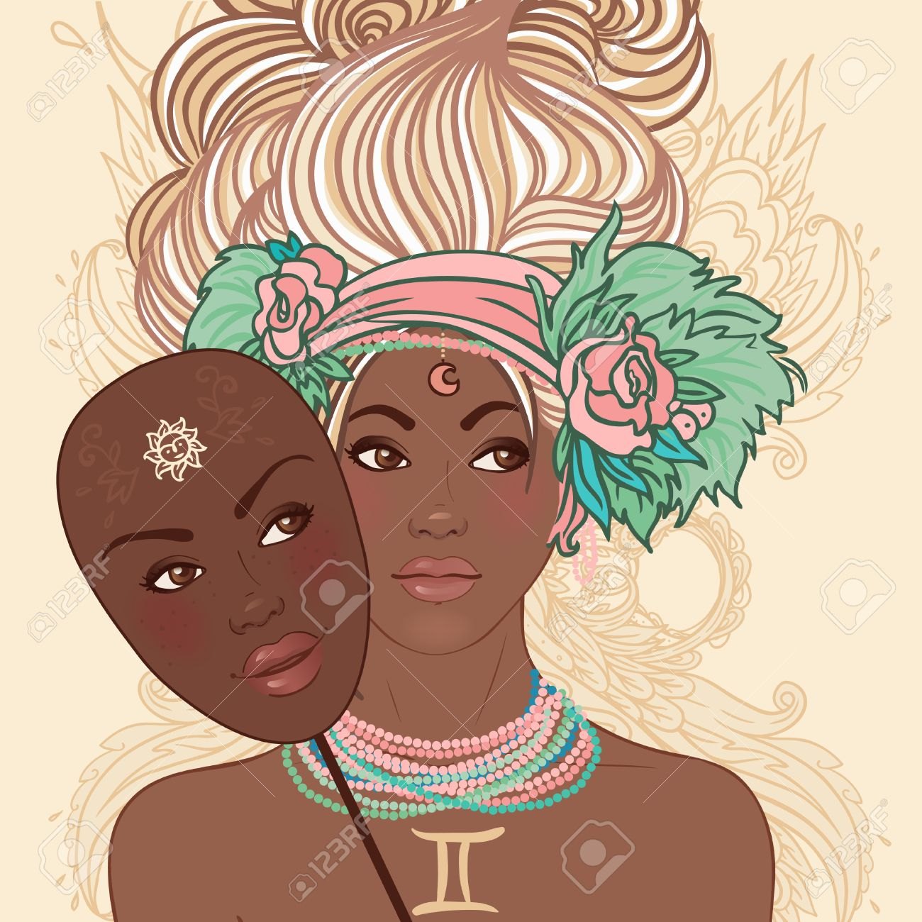 Image result for african american gemini symbols