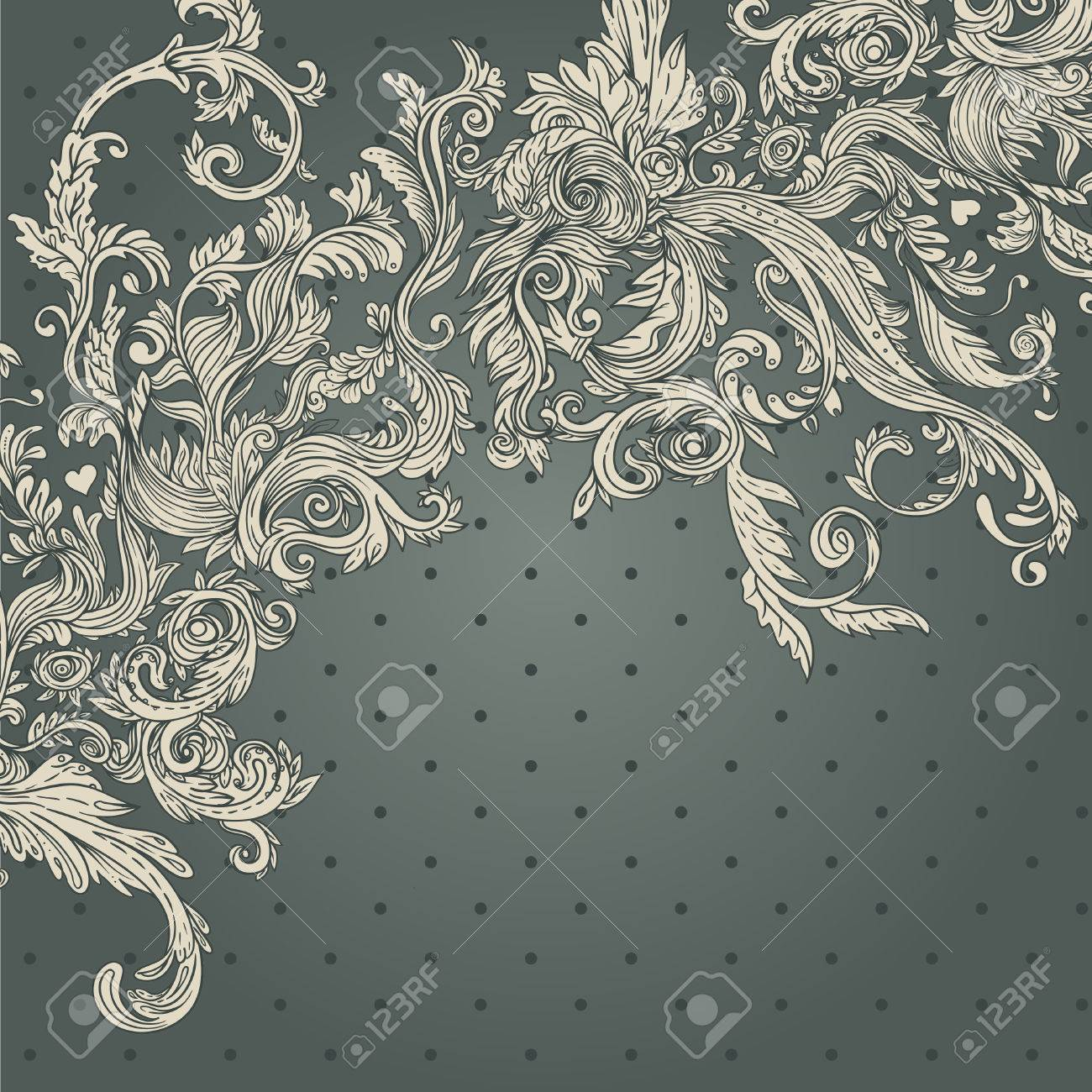 Vintage background ornate baroque pattern vector illustration stock - Vintage Background Ornate Baroque Pattern Vector Illustration Stock Vector 33591865