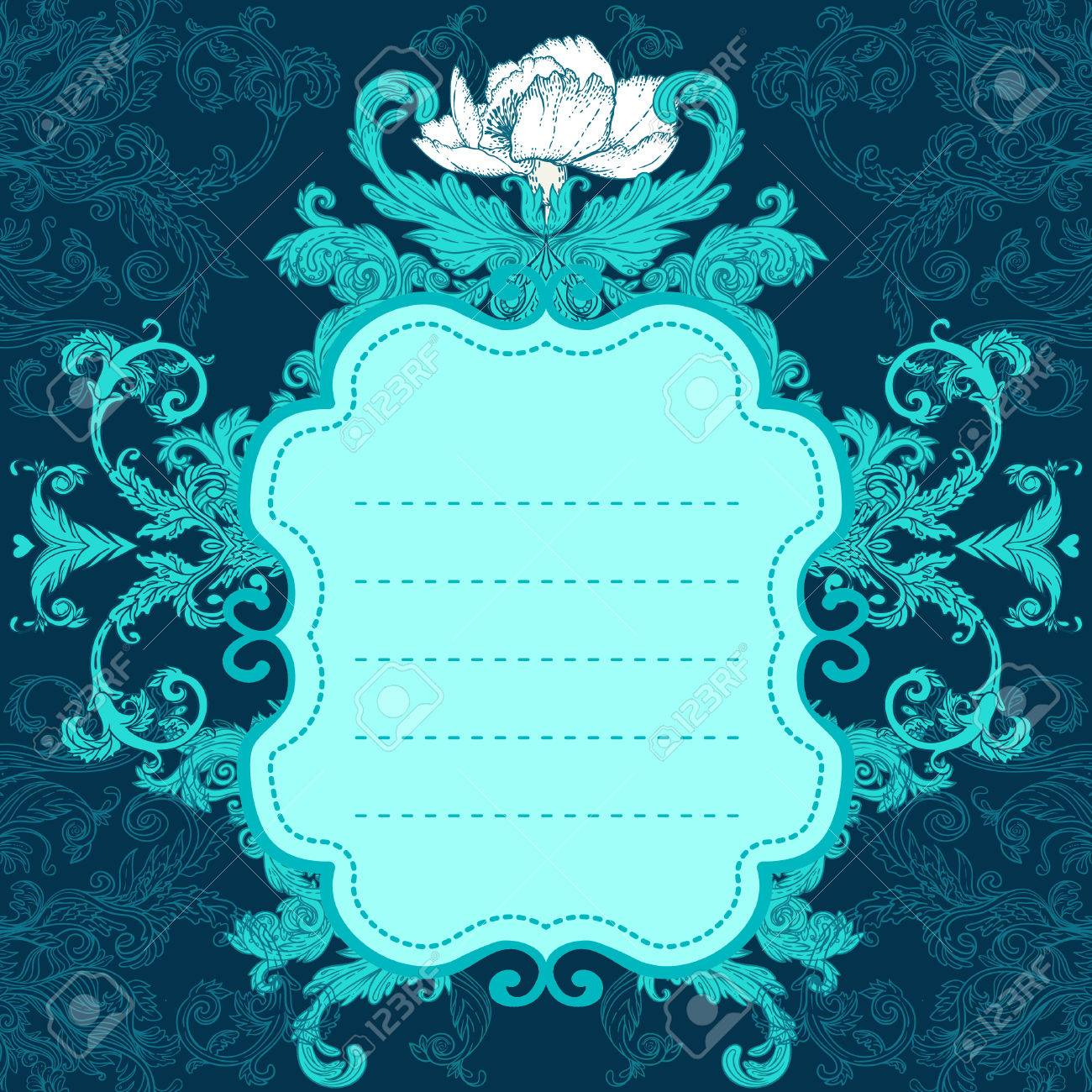 Vintage background ornate baroque pattern vector illustration stock - Vintage Background Ornate Baroque Pattern Vector Illustration Stock Vector 33591870