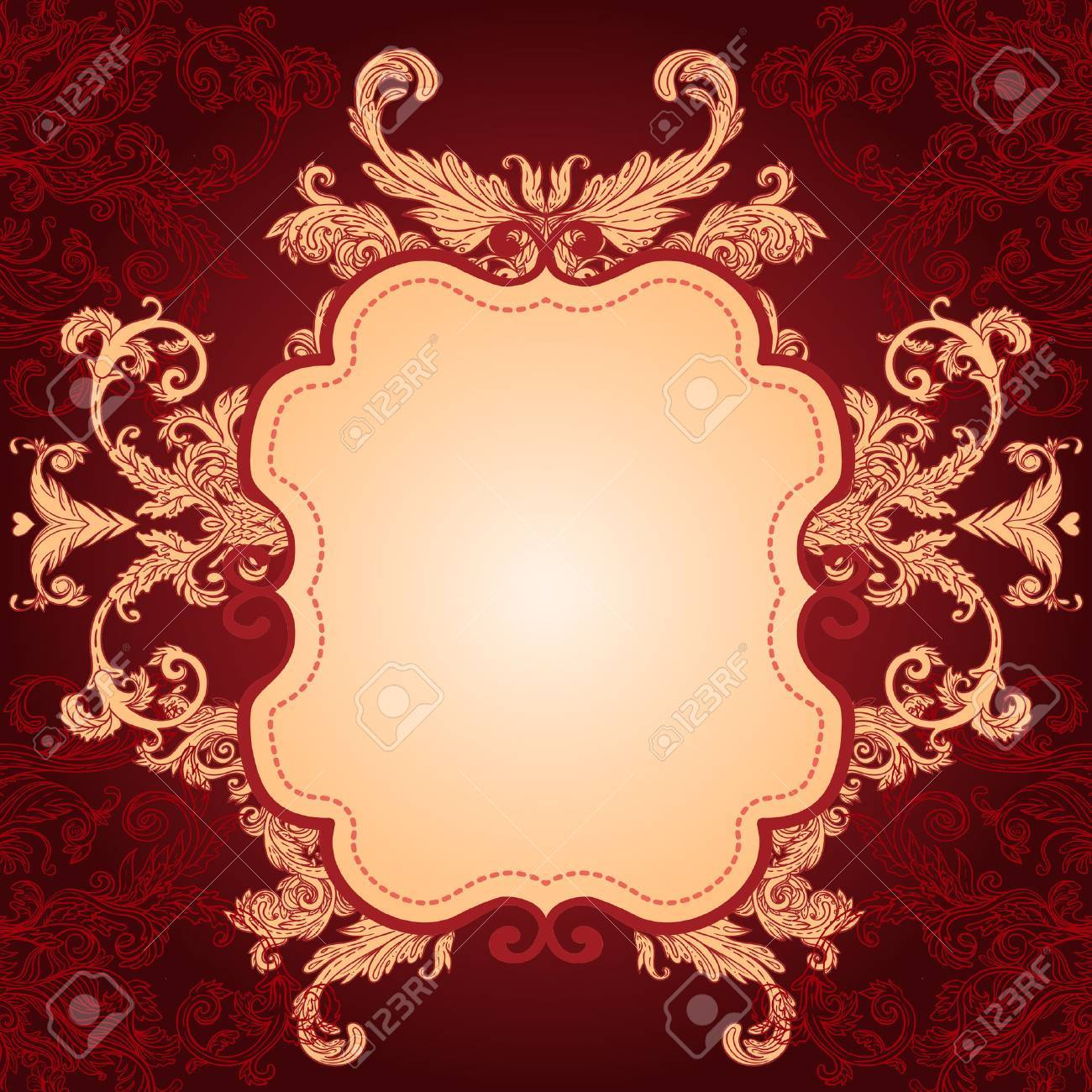 Vintage background ornate baroque pattern vector illustration stock - Vintage Background Ornate Baroque Pattern Vector Illustration Stock Vector 33591872