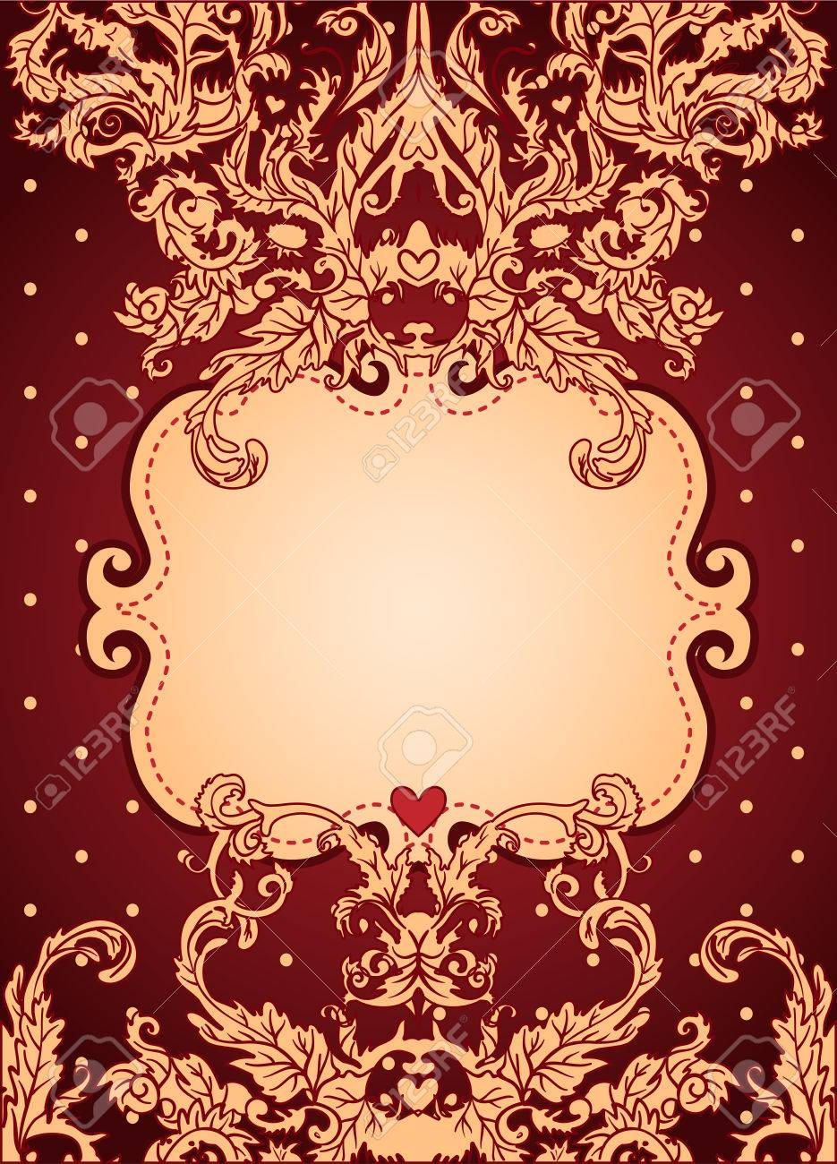 Vintage background ornate baroque pattern vector illustration stock - Vintage Background Ornate Baroque Pattern Vector Illustration Stock Vector 33592483
