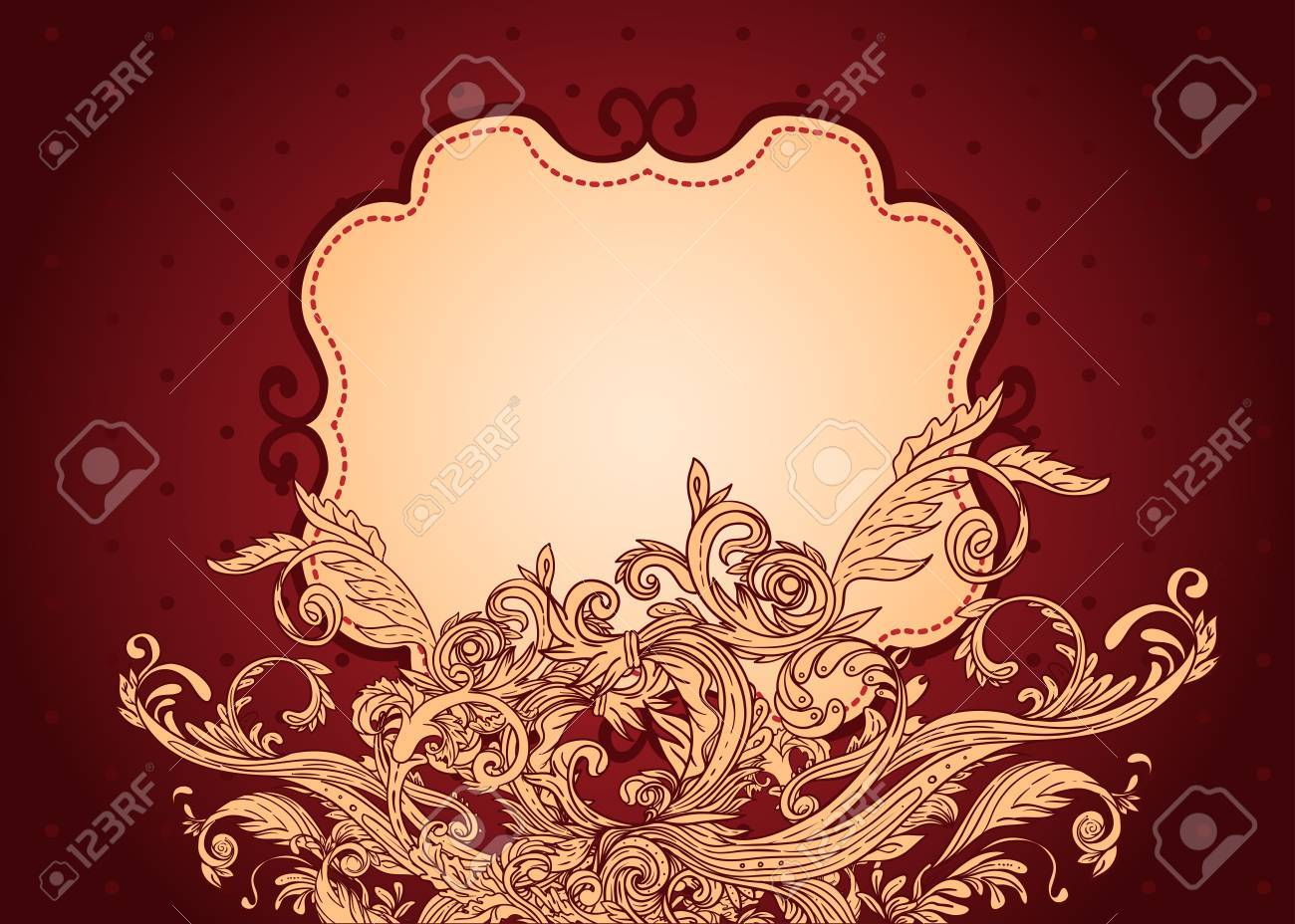 Vintage background ornate baroque pattern vector illustration stock - Vintage Background Ornate Baroque Pattern Vector Illustration Stock Vector 33592484