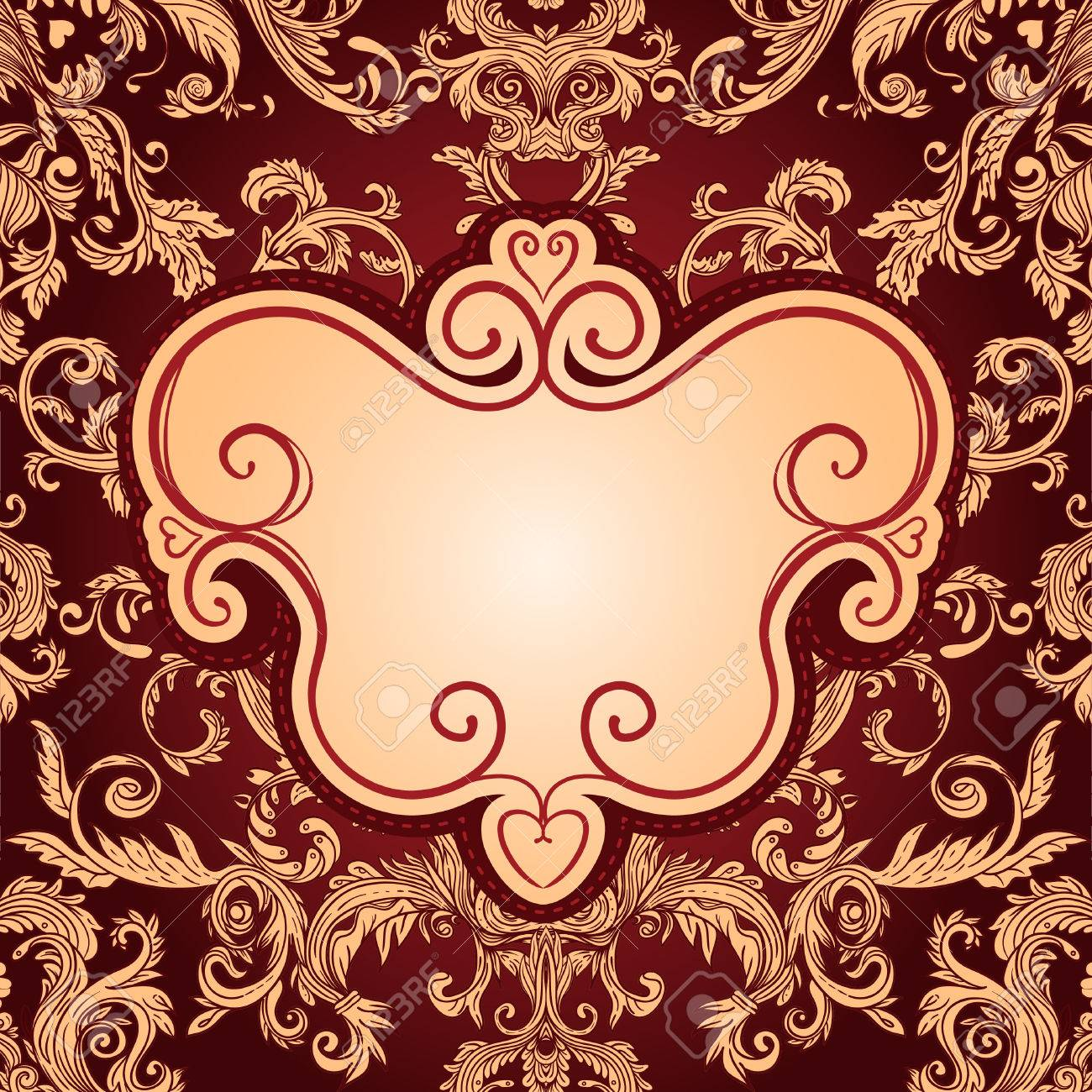 Vintage background ornate baroque pattern vector illustration stock - Vintage Background Ornate Baroque Pattern Vector Illustration Stock Vector 33592492