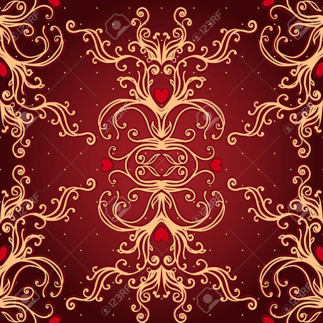 Vintage background ornate baroque pattern vector illustration stock - Vintage Background Ornate Baroque Pattern Vector Illustration Stock Vector 33592500