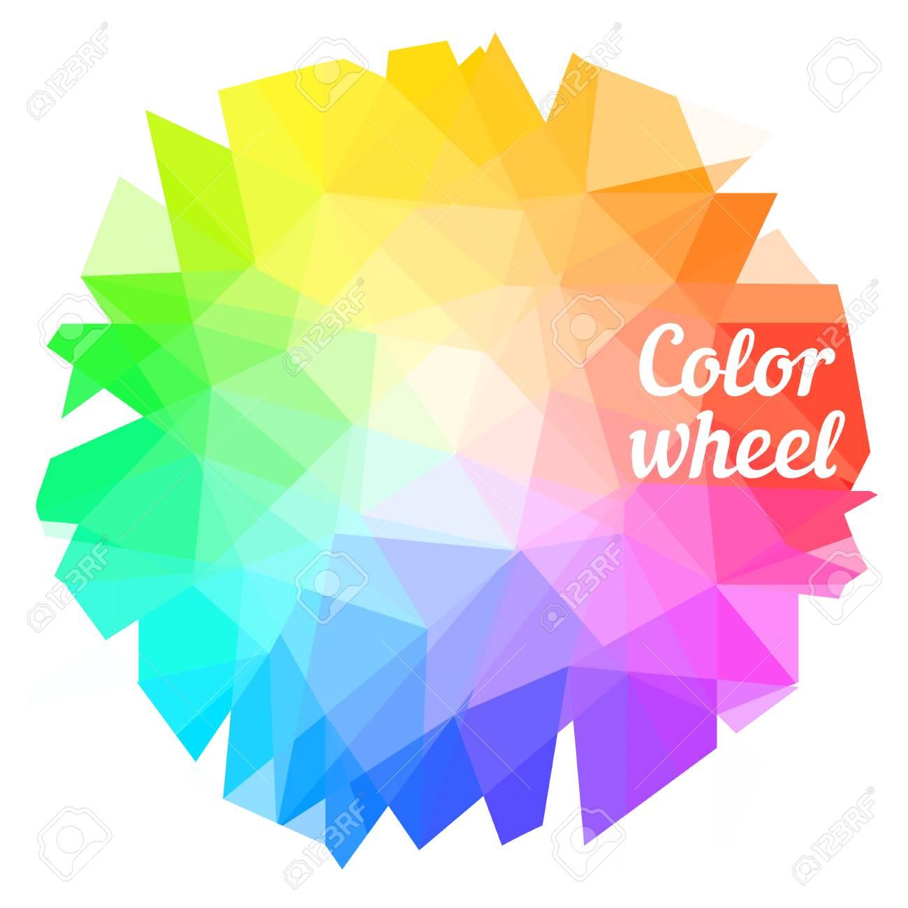 Creative Color Wheel Vector Illustration Royalty Free Cliparts