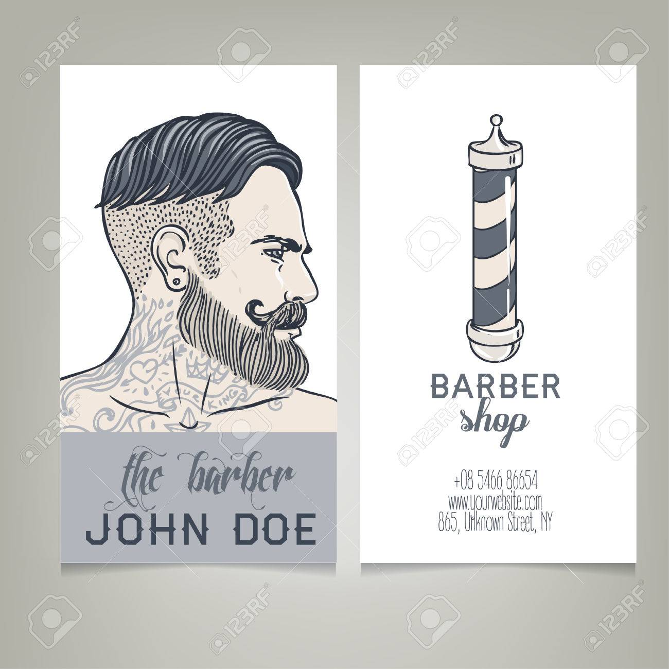 Hipster barber shop business card design template vector hipster barber shop business card design template vector illustration stock vector 43448459 wajeb Image collections